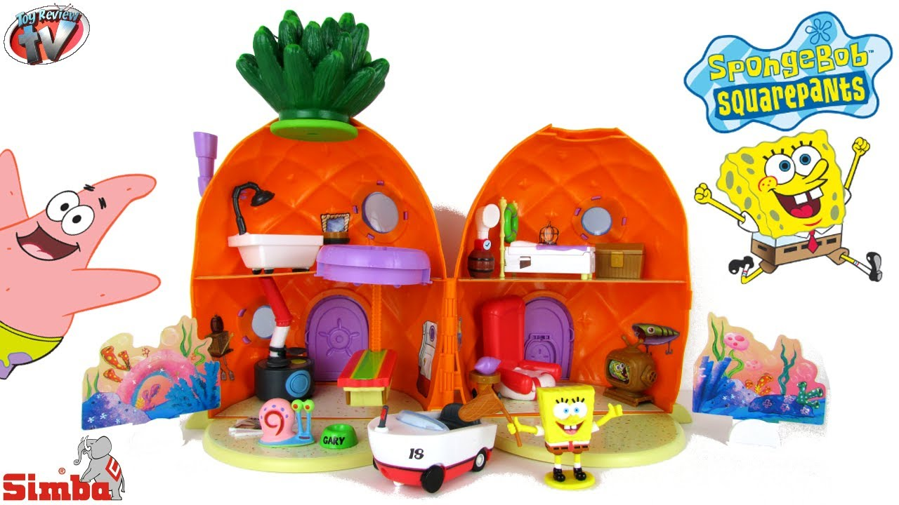 Spongebob Squarepants Pineapple House Playset with Gary Snail Spongebob Toys