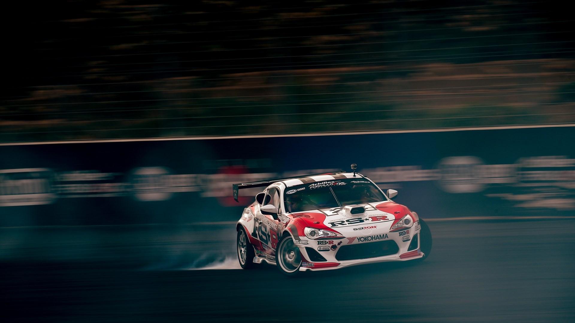 Toyota Car Drift Smoke