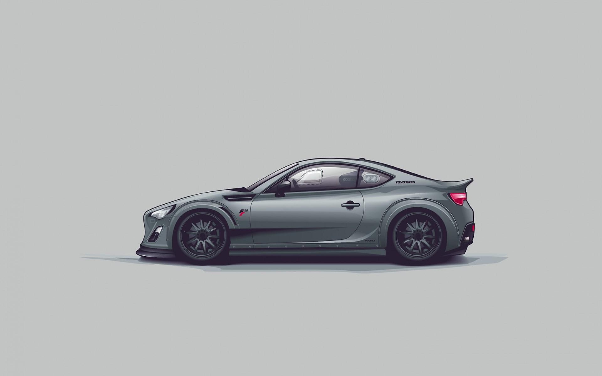 Toyota Ft 86 Car Art