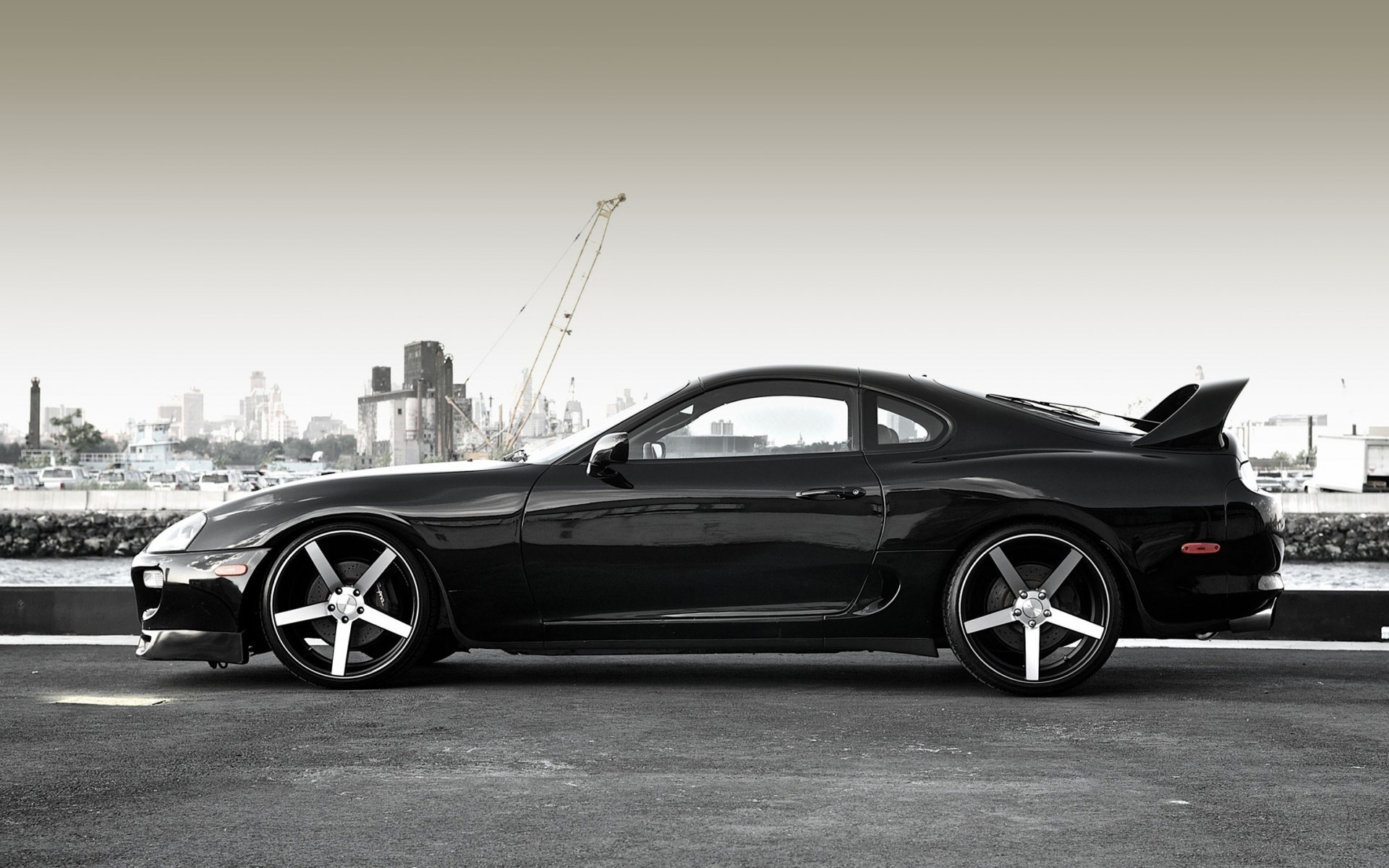 Toyota Supra Black Car