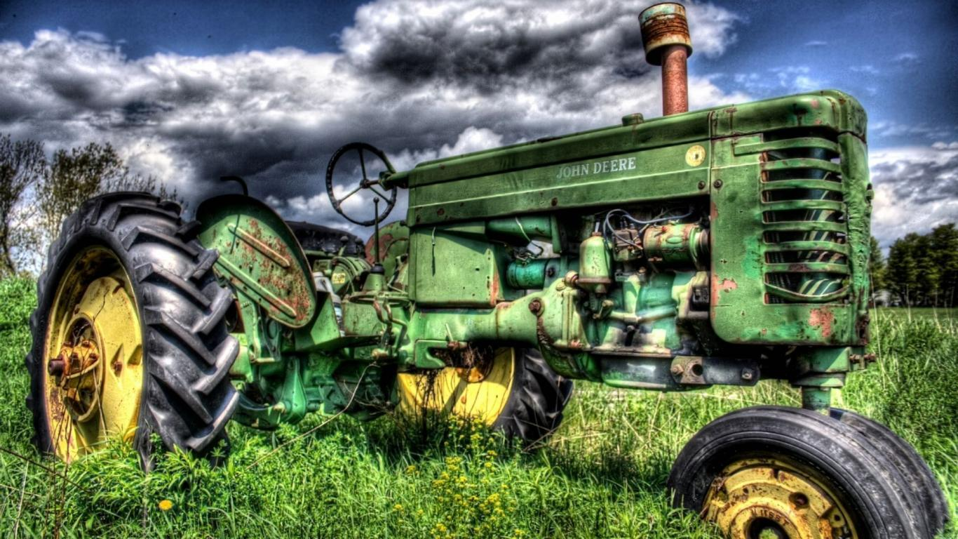 Vehicles John Deere Tractor Wallpaper #338390 - Resolution 1366x768 px