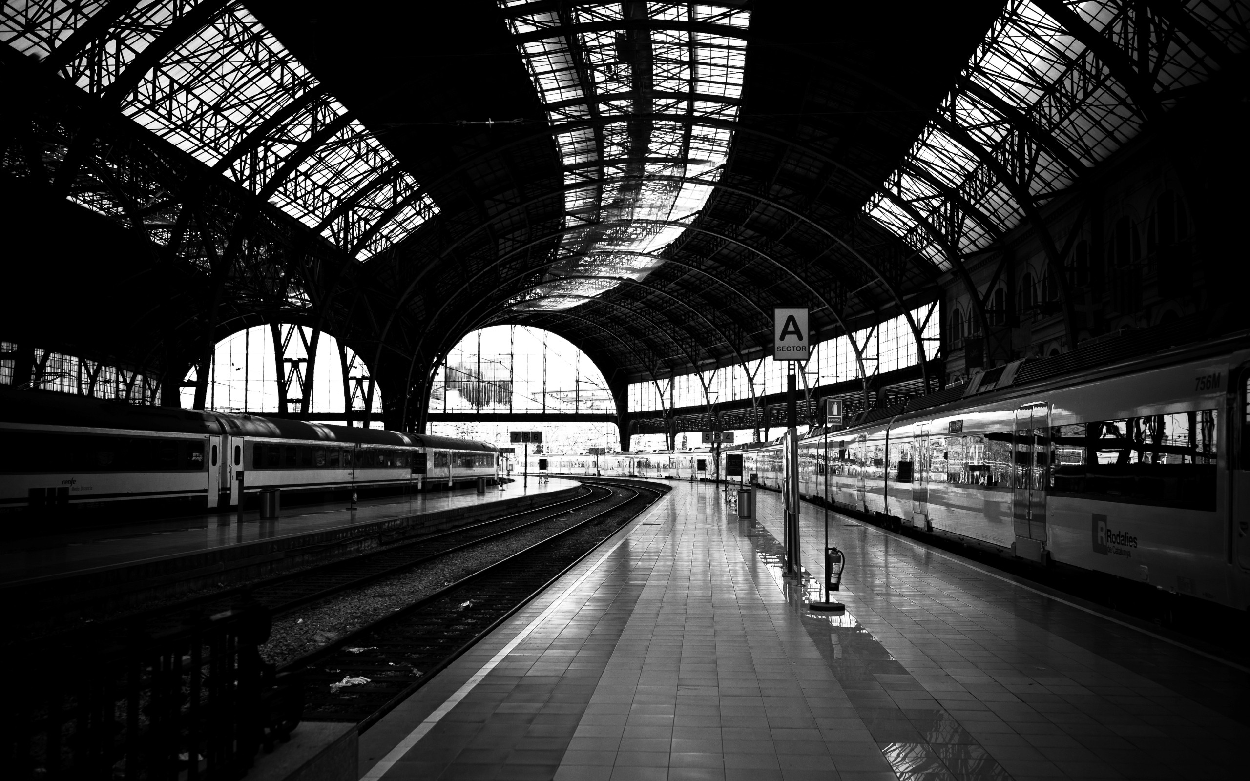 Railway statio... Train Station Desktop Wallpaper ...