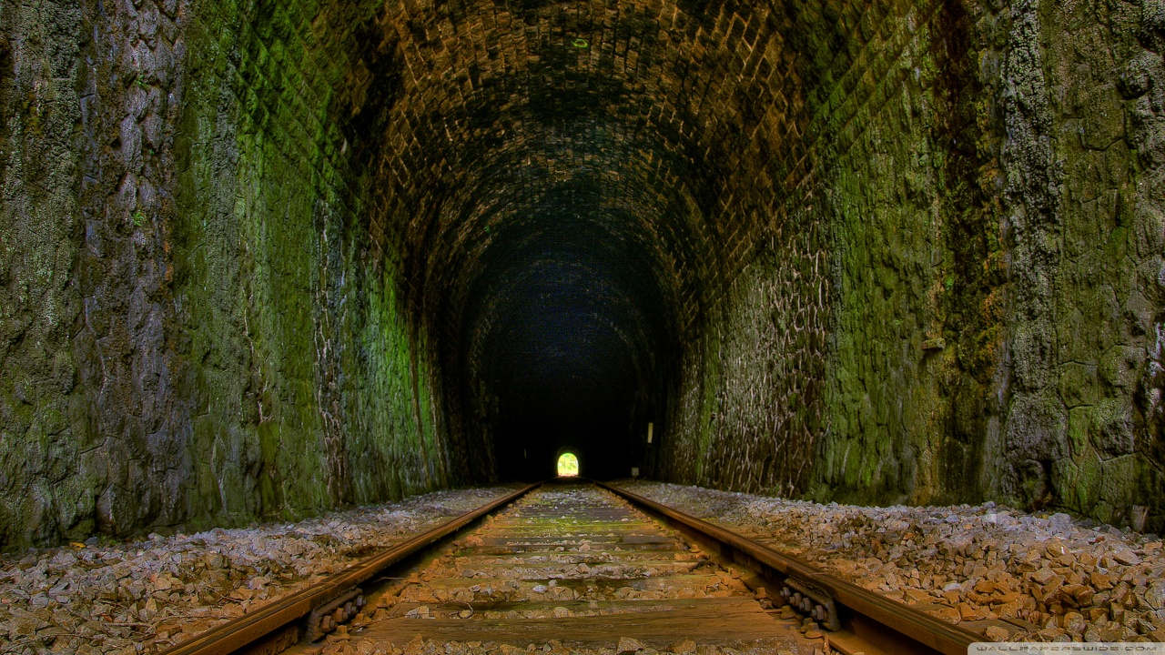 Train Tunnel Wallpaper