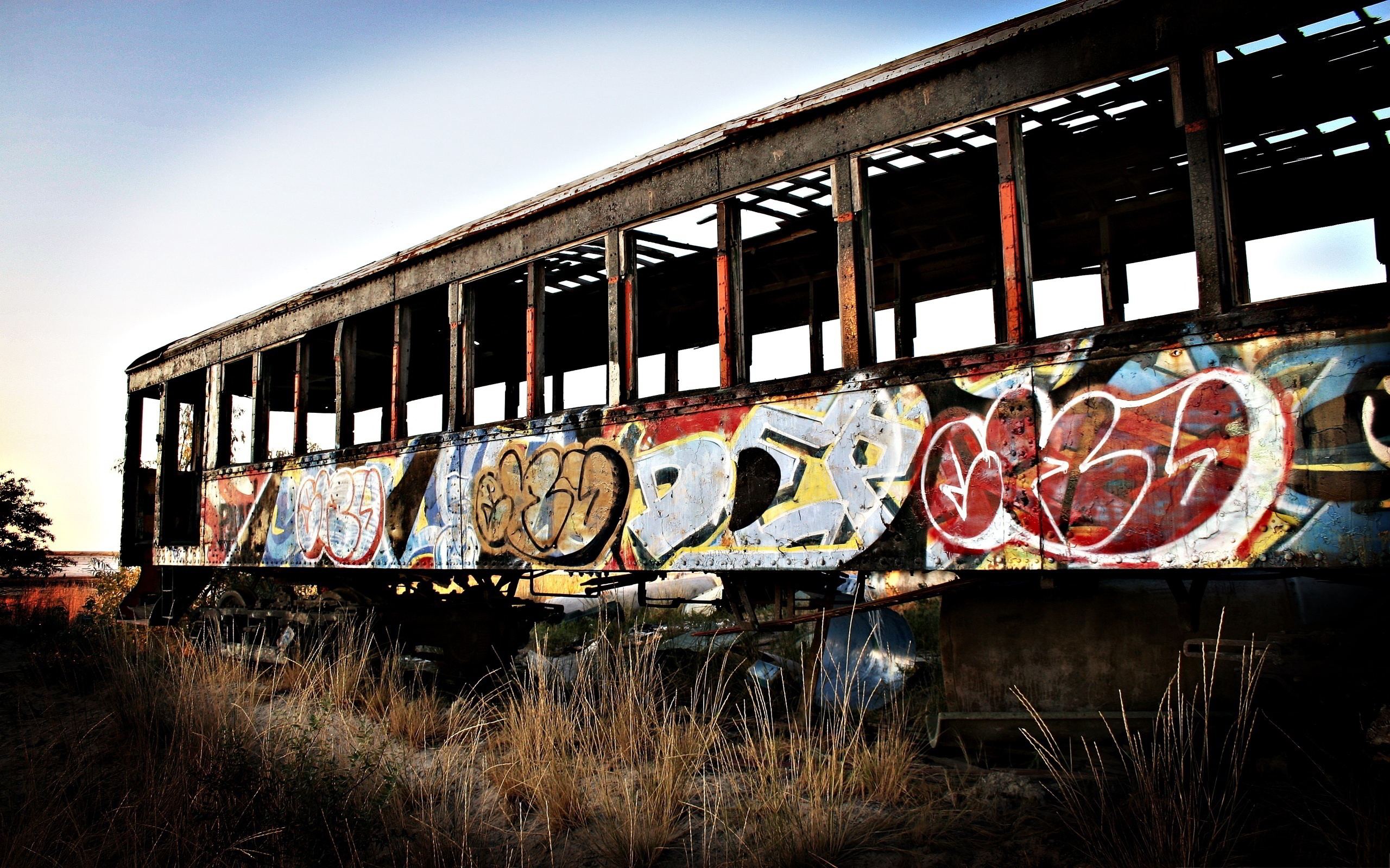 Train wagon graffiti
