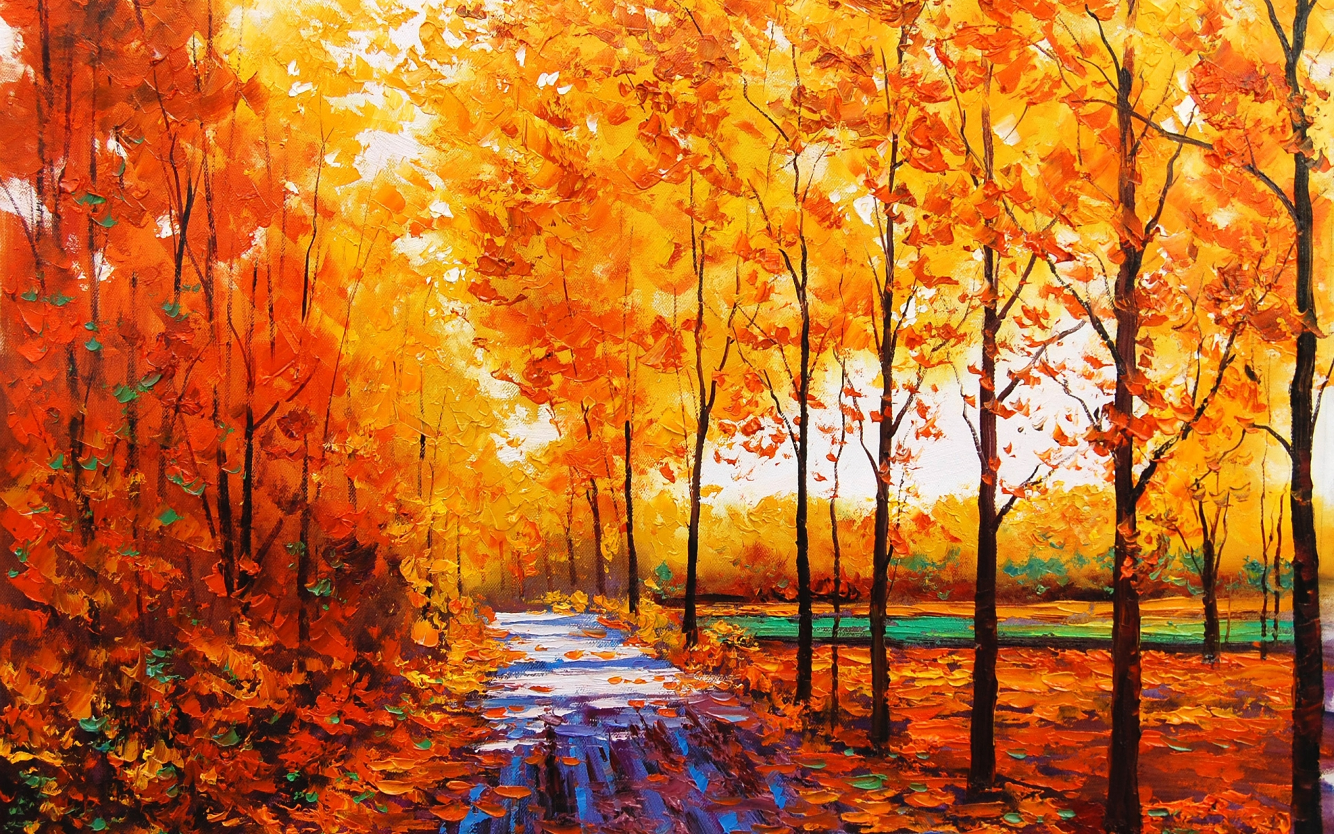 Tree Autumn Paint