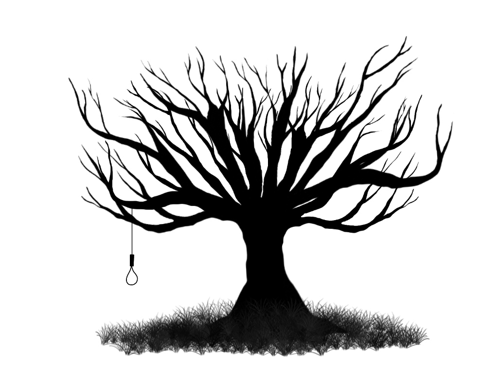 Scary Tree Clip Art | Mewarnai ...