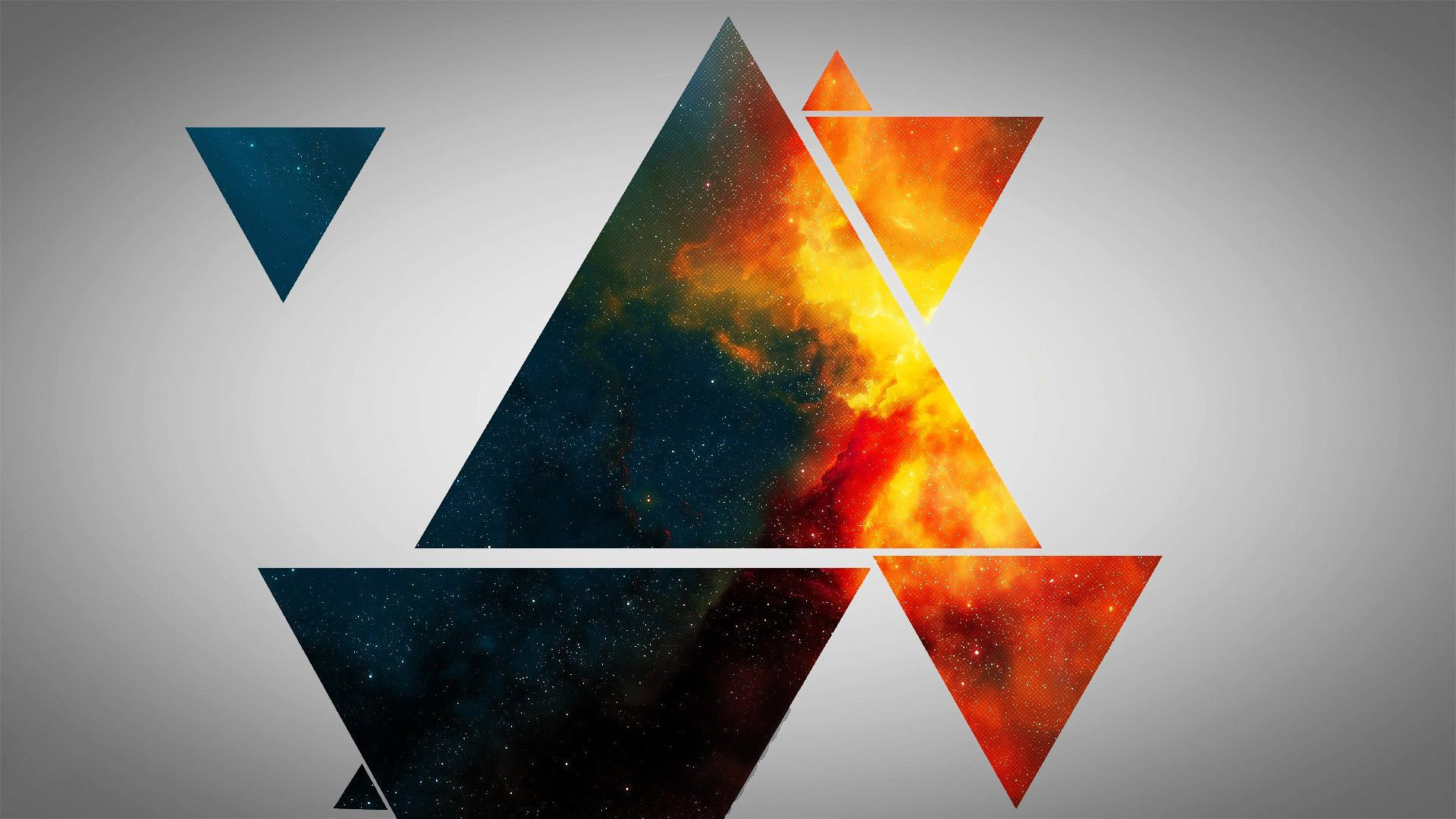 Colorful triangles 1920x1080