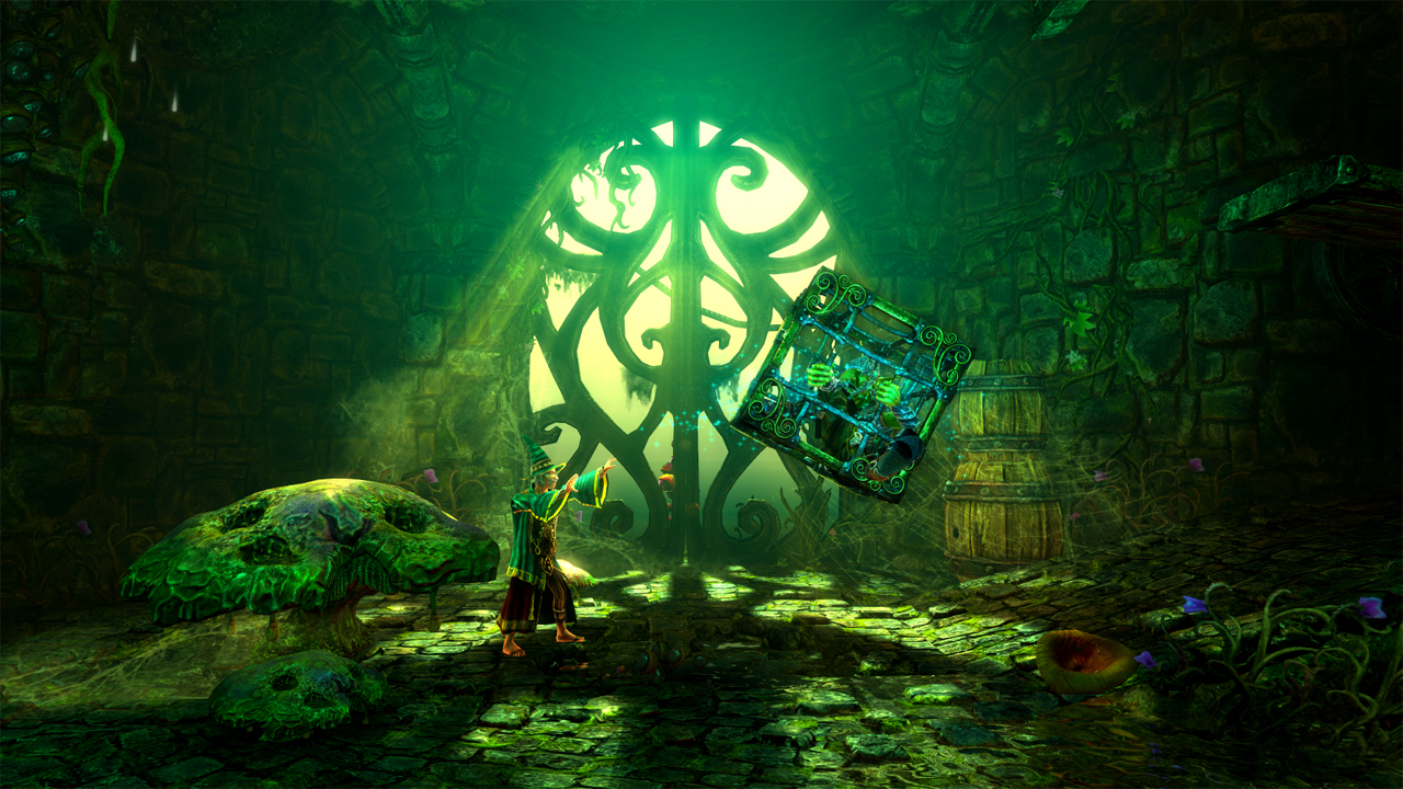 Another great thing about Trine 2 is that there is always more than one solution to each puzzle. To cross a chasm you could use Amadeus to place a plank and ...