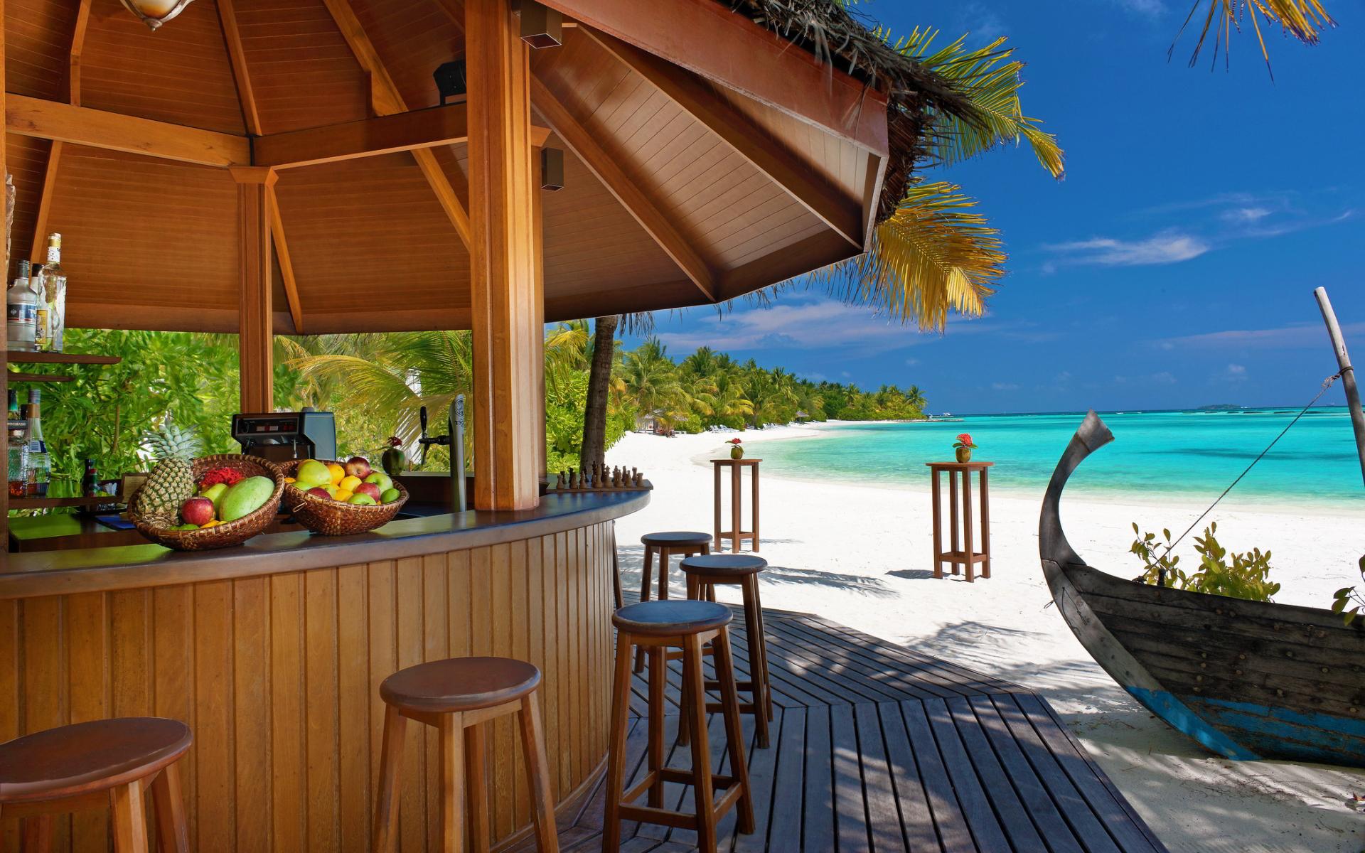 Tropical beach bar