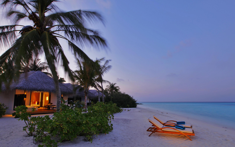 Tropical beach evening