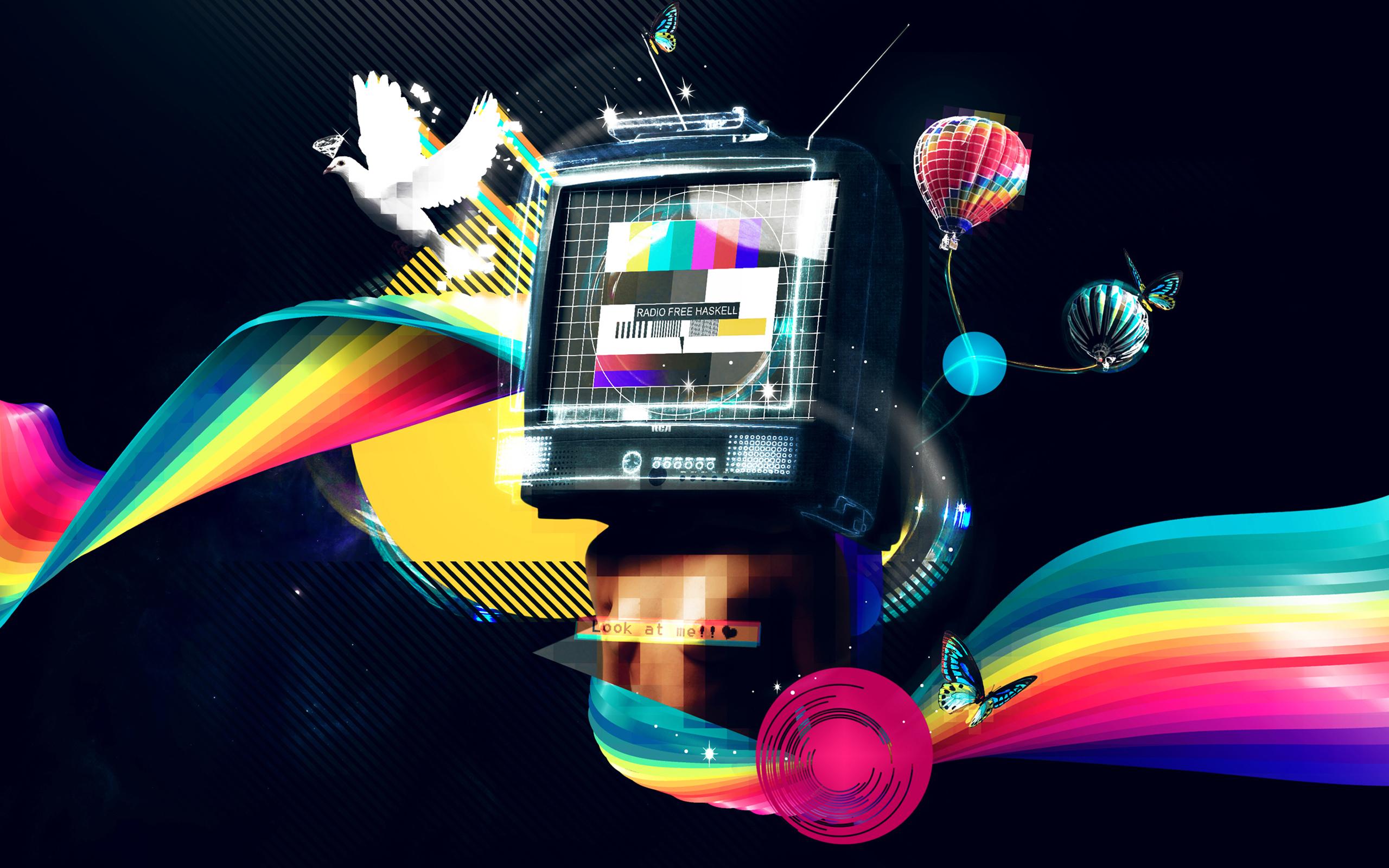 colorful TV wallpaper.