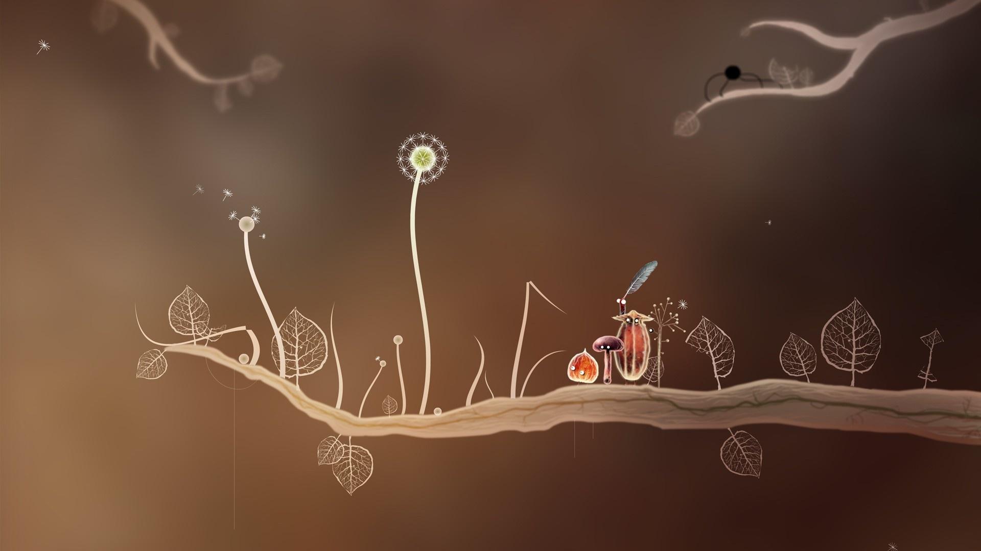 botanicula, twig, branch, leaf, dandelion