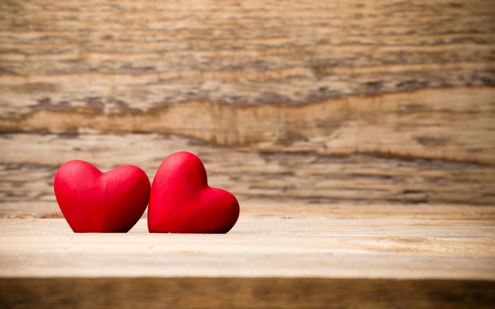 Two Red Hearts Mood Love