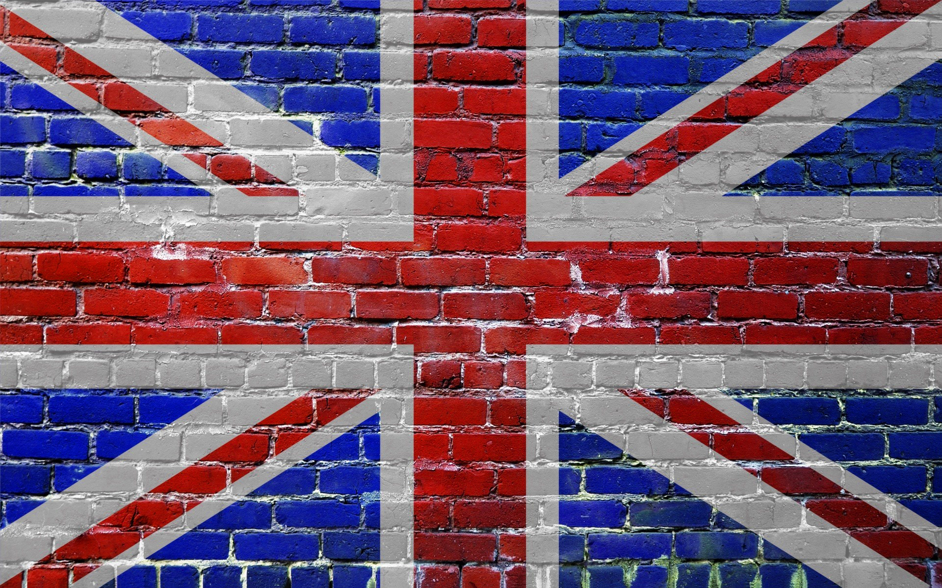 Uk flag wall