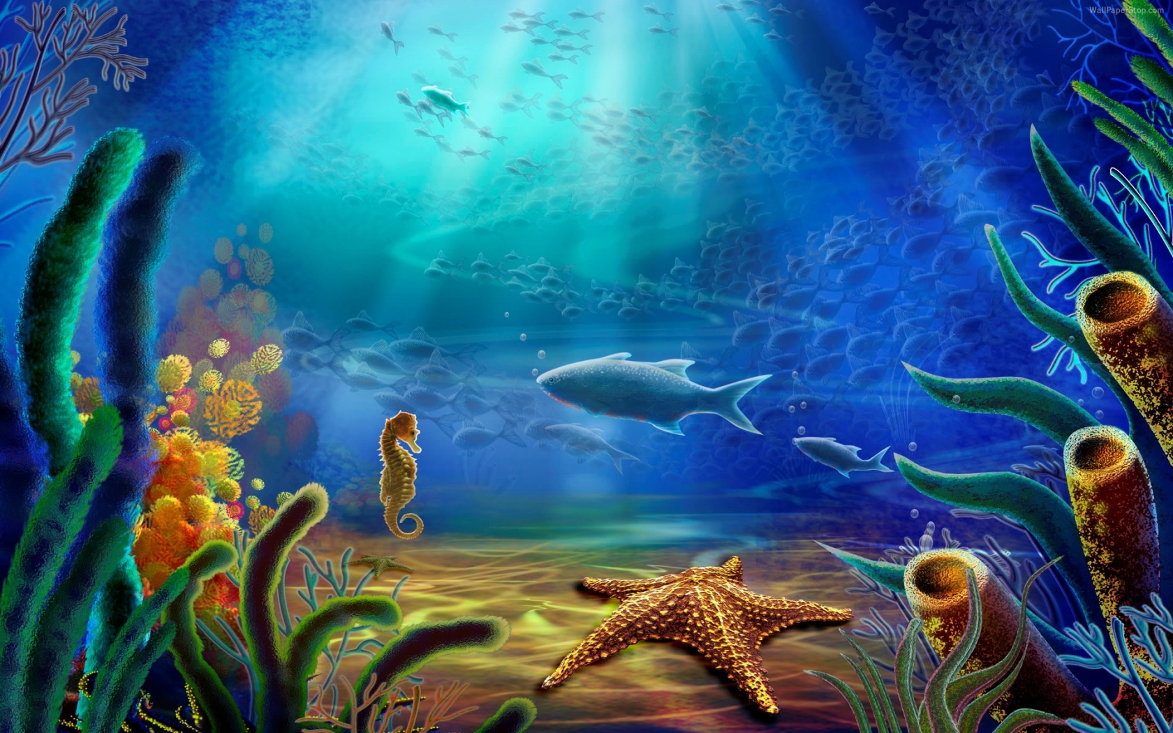 Underwater wal... Underwater Wallpaper Underwater background hd