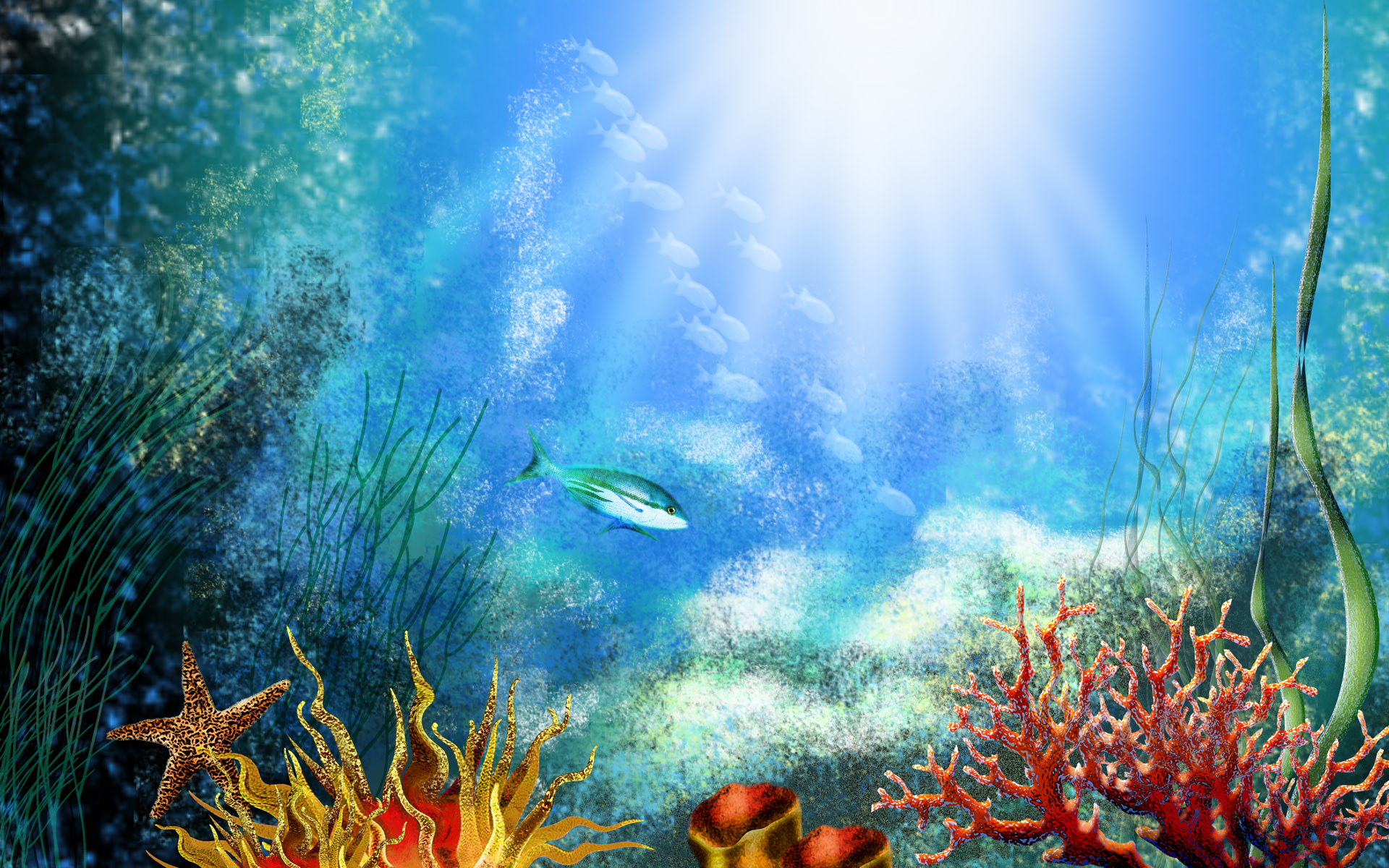 Images for Gt Underwater Cartoon Wallpaper