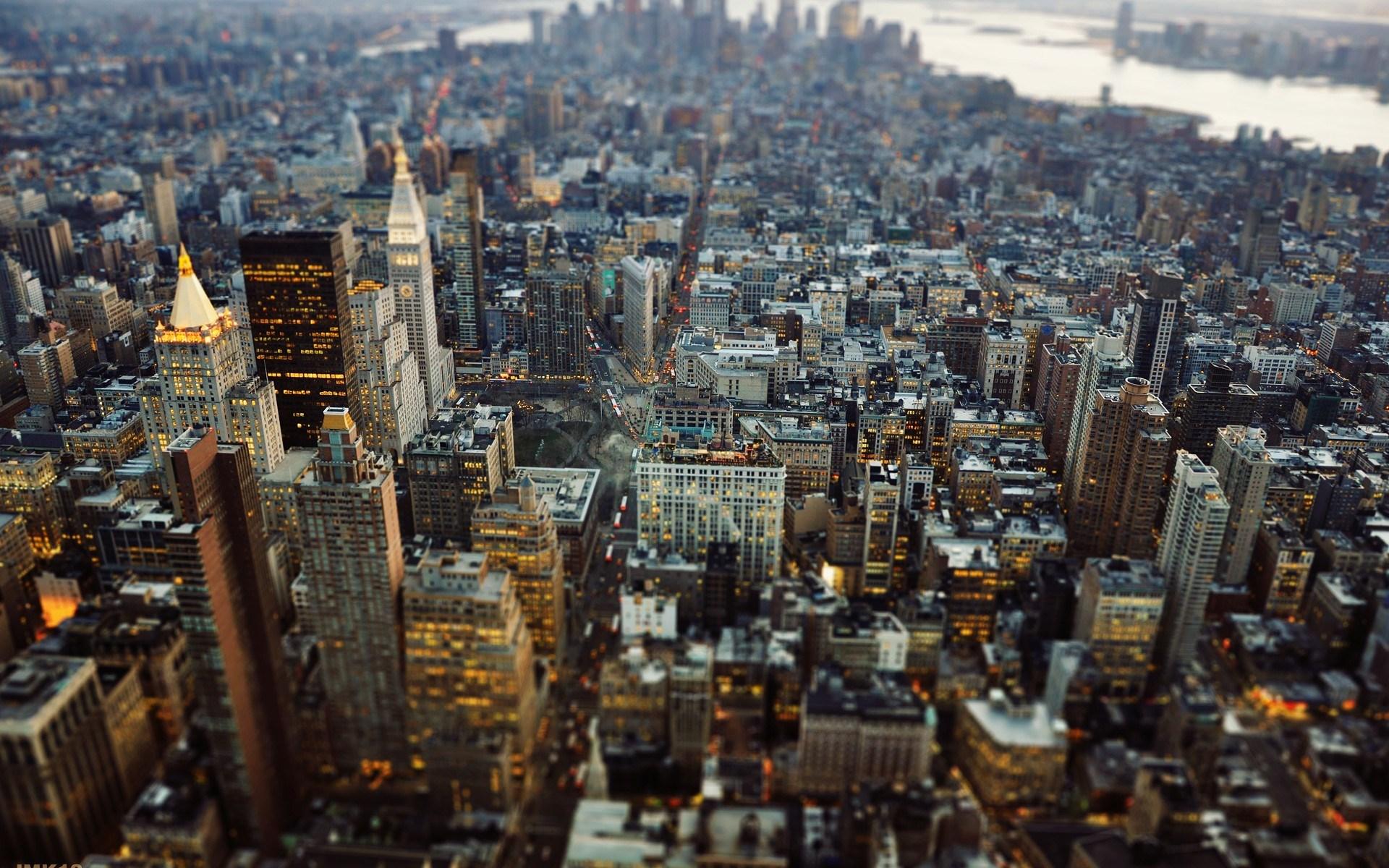 USA New York City Manhattan Tilt-Shift