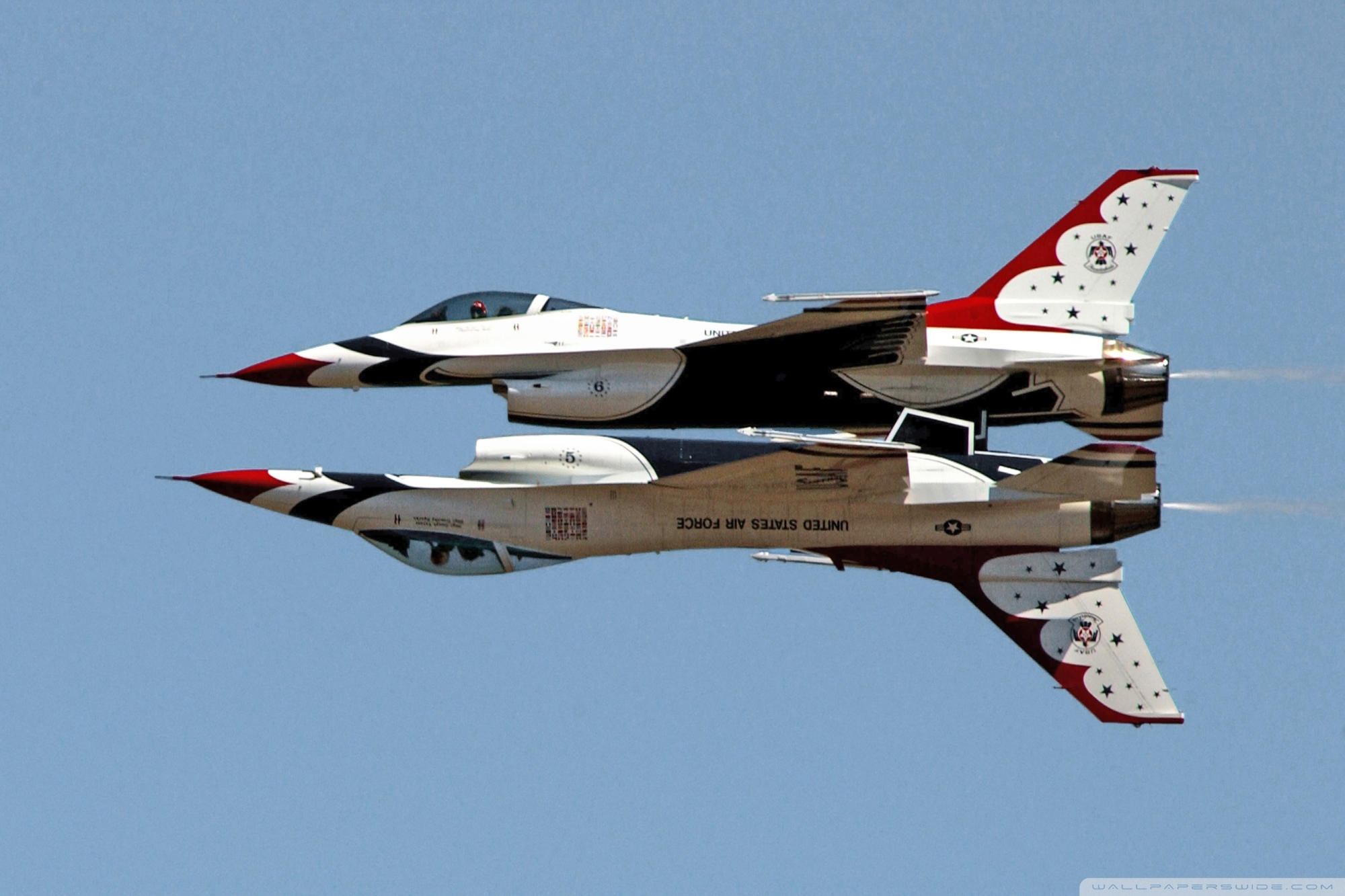 Download Usaf Thunderbirds F16 Fighting Falcons Free Wallpaper Download