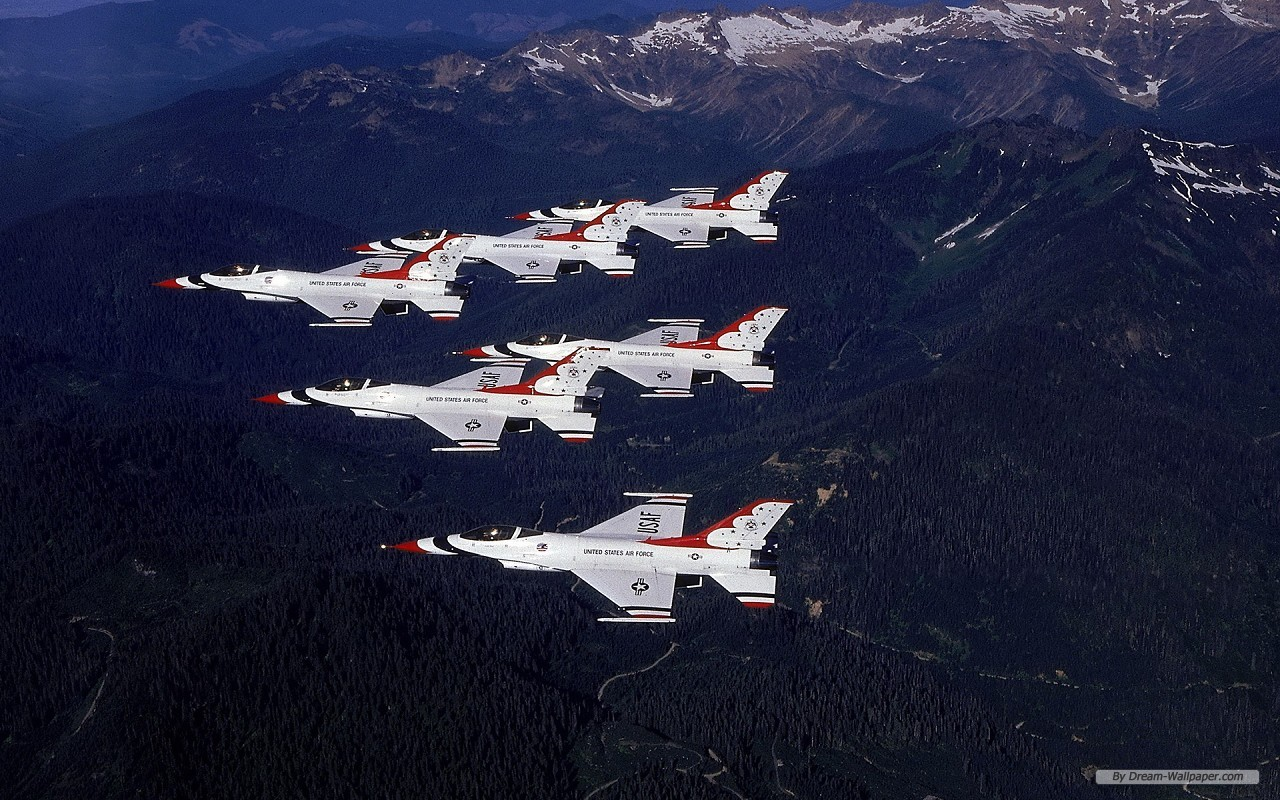 Free Photography wallpaper - USAF Thunderbirds wallpaper - 1280x800 wallpaper - Index 17