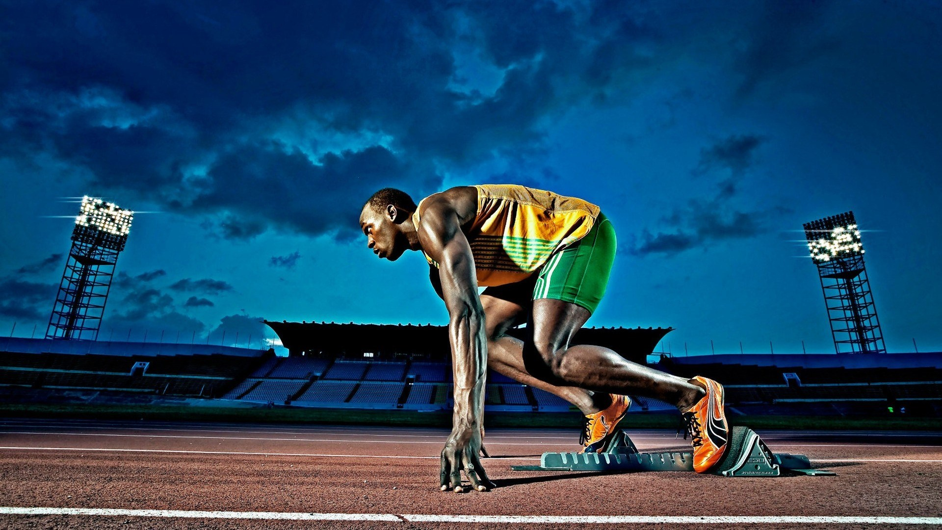 Usain Bolt Jamaican Sprinter Athlete Sport