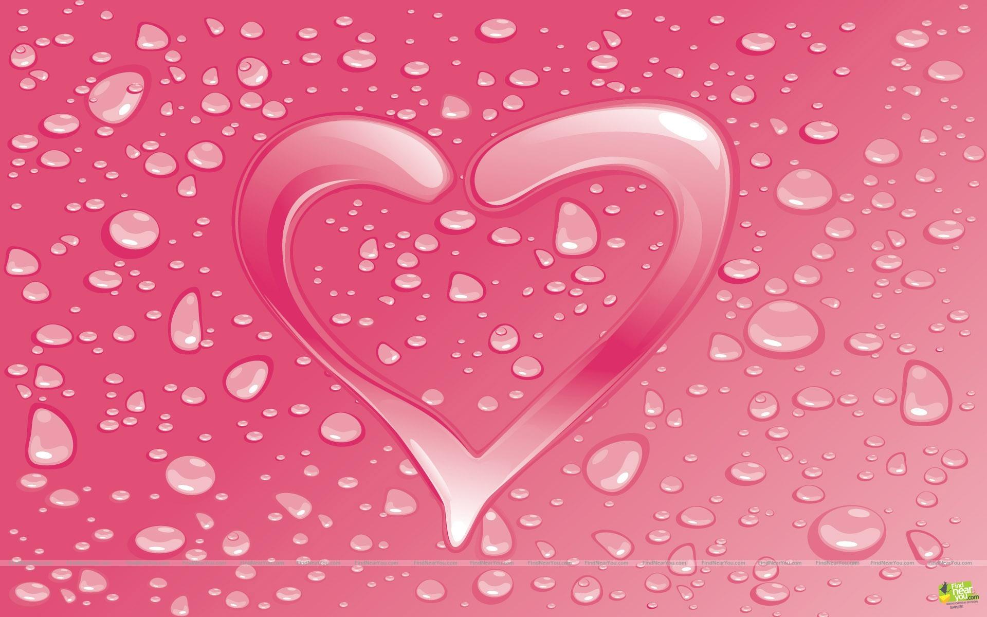 valentine wallpaper pink heart Wallpaper
