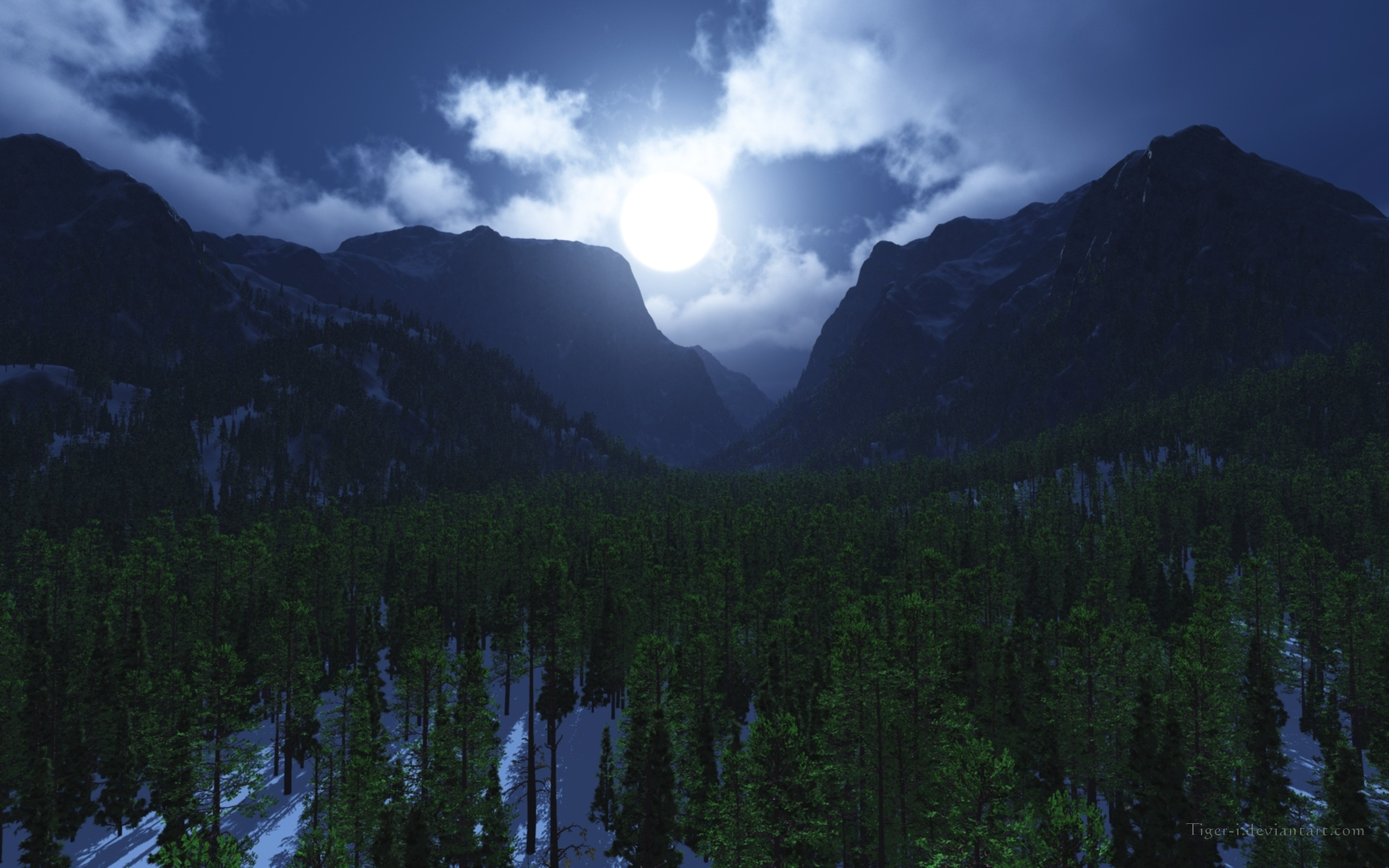 Moonlight Valley wallpaper