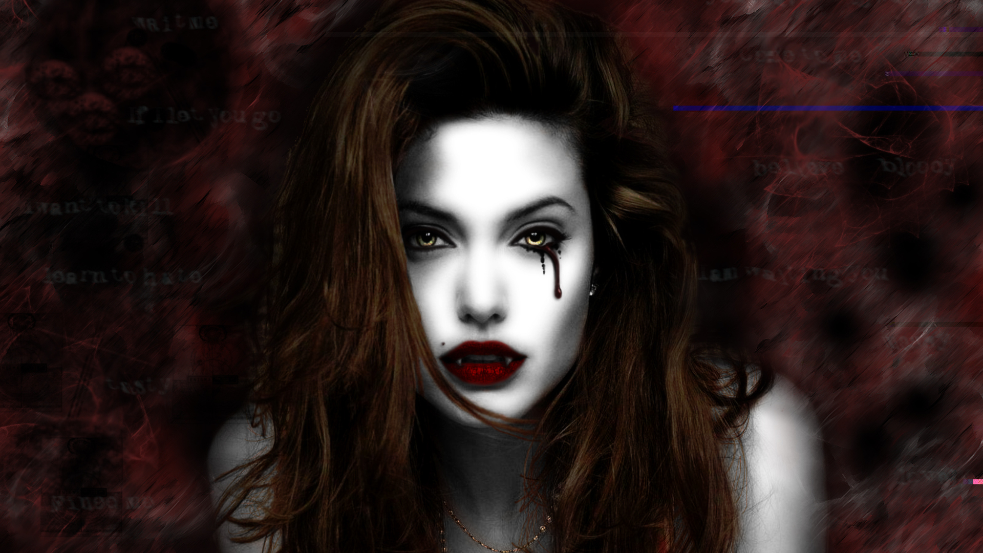 Dark - Vampire Angelina Jolie Wallpaper