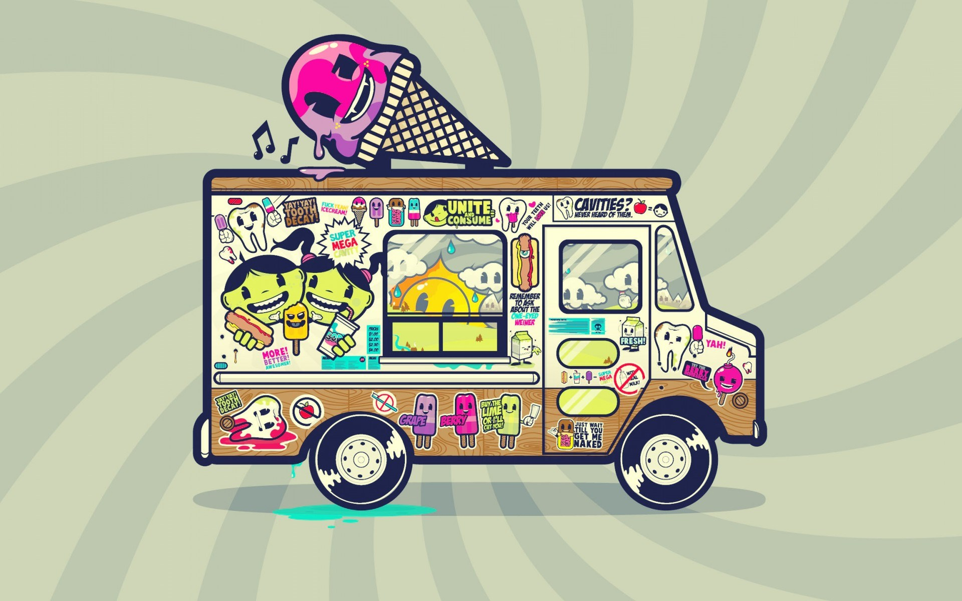 Van Ice Cream Art