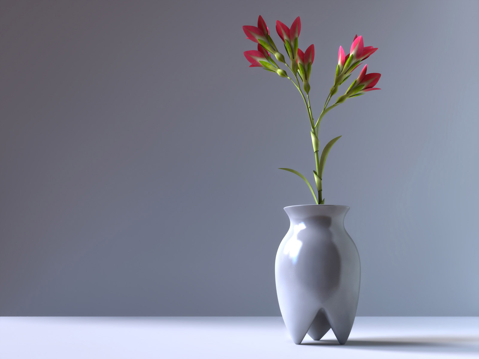 Flowers vase- Wallpaper 1600x1200