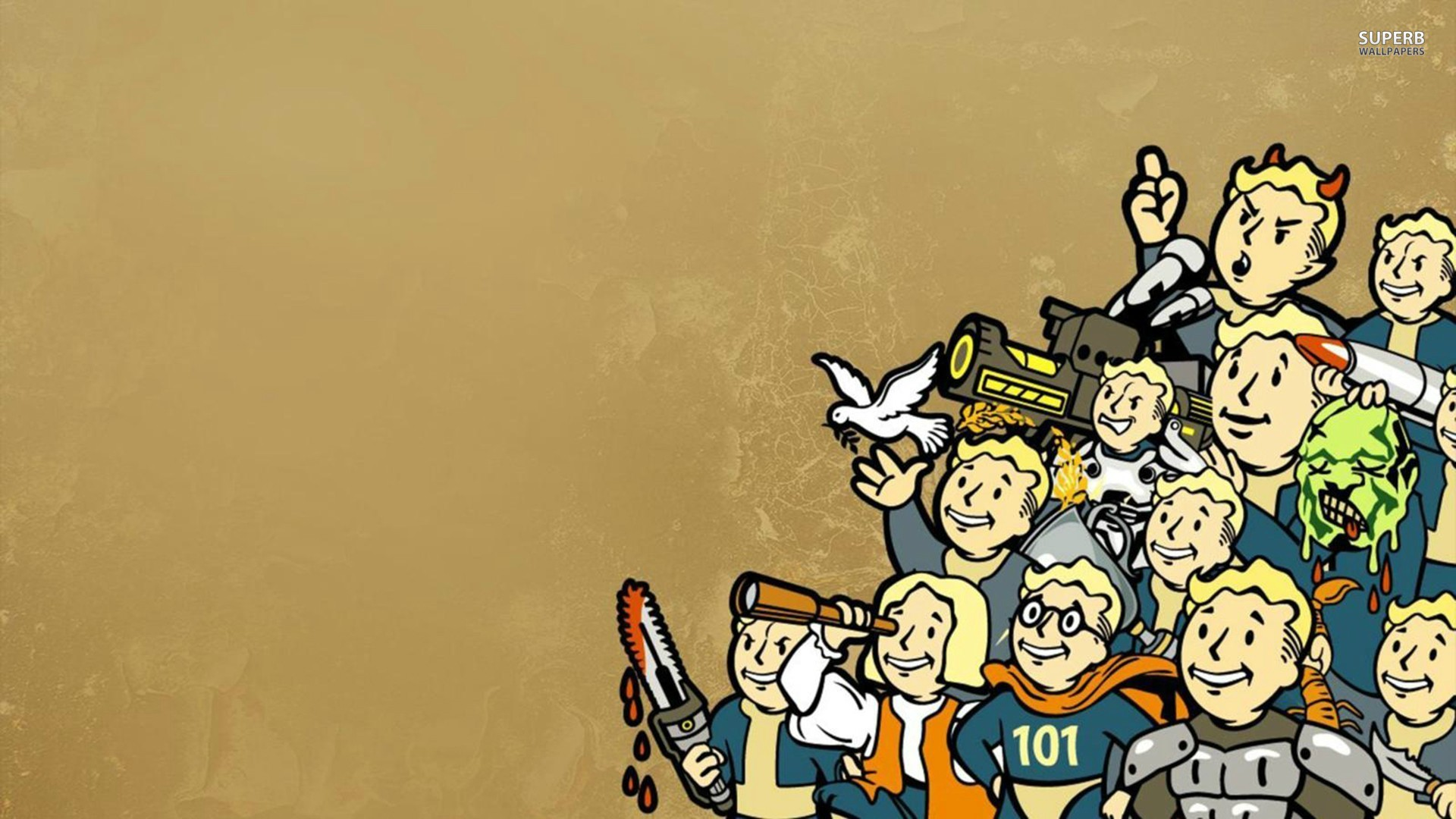 Vault Boy - Fallout wallpaper 1920x1080