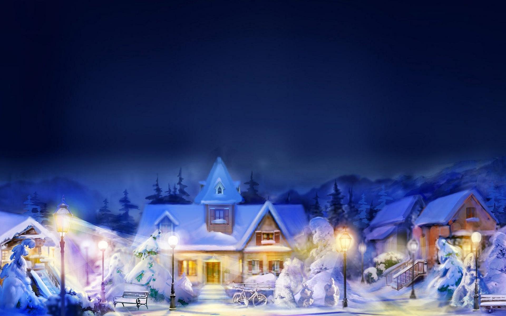 Village Winter Art