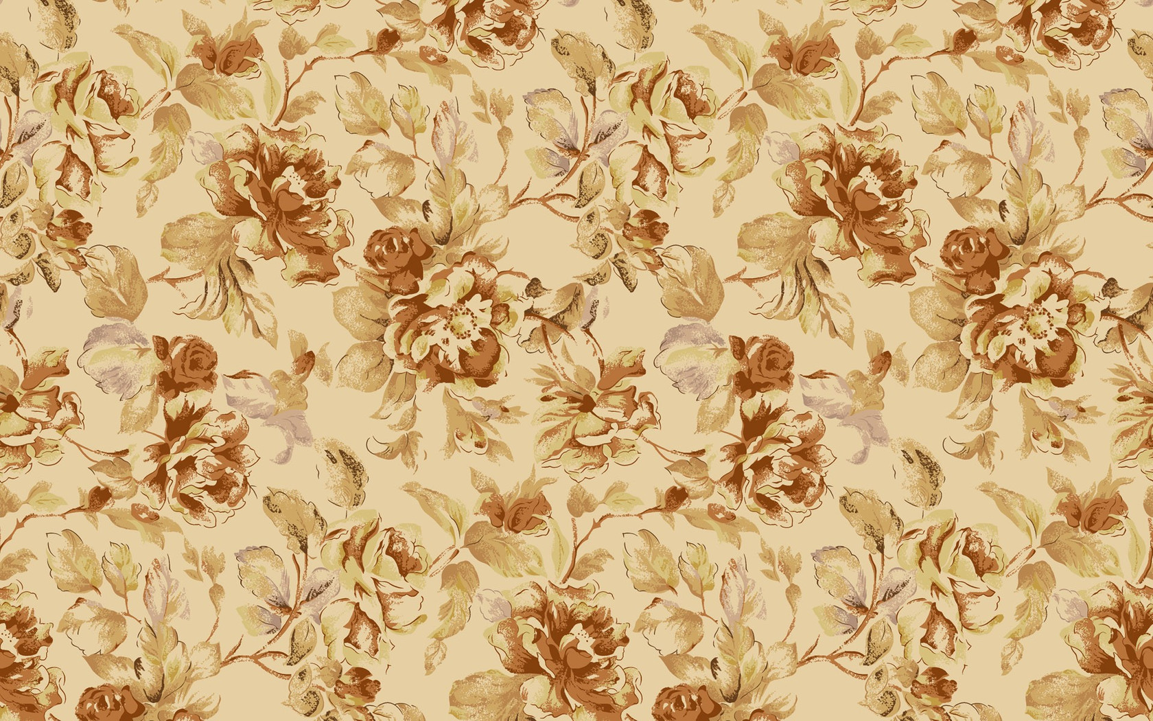 ... Vintage floral pattern 1680x1050 wallpaper ...