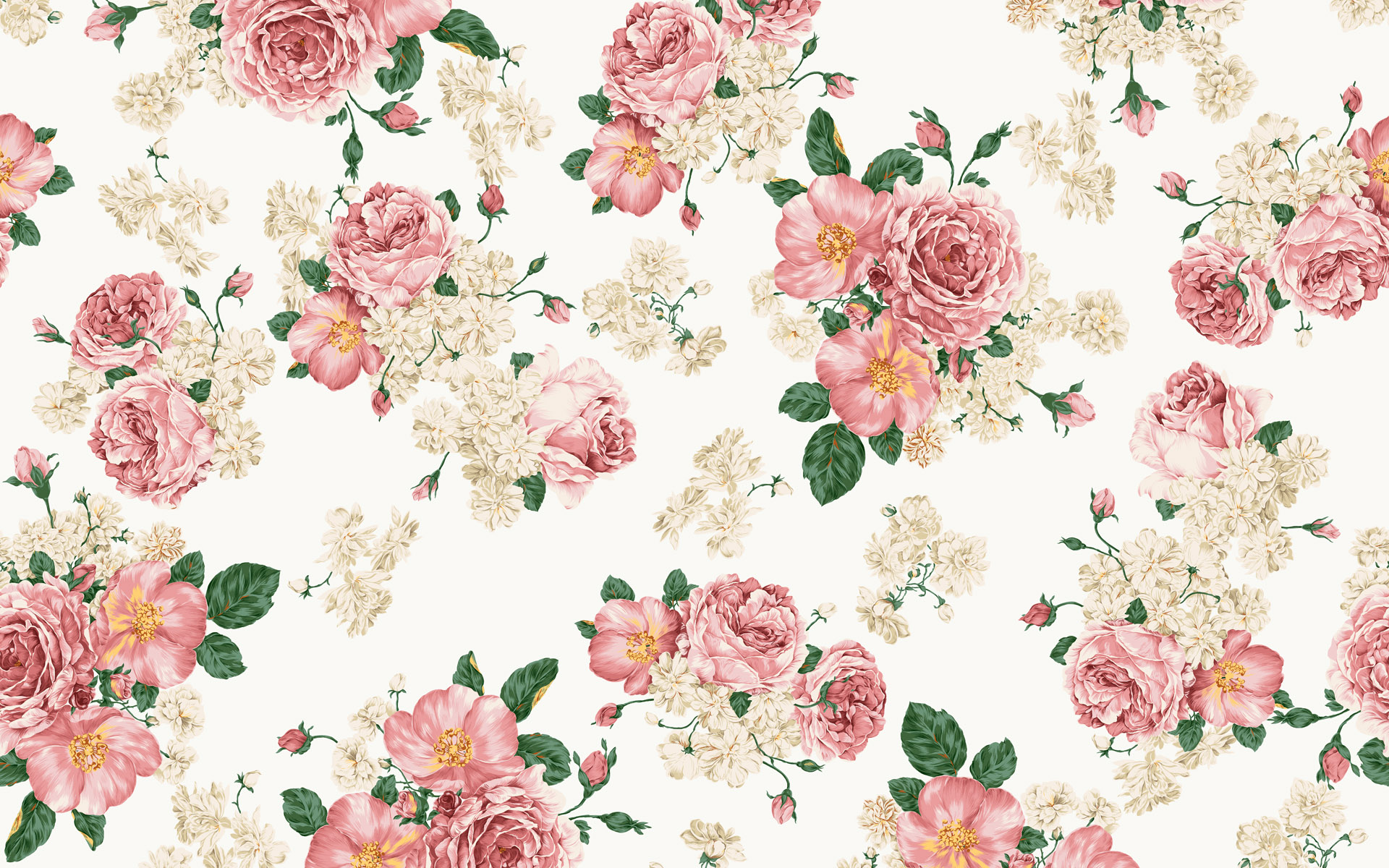Backgrounds for Gt Vintage Floral Desktop Wallpaper