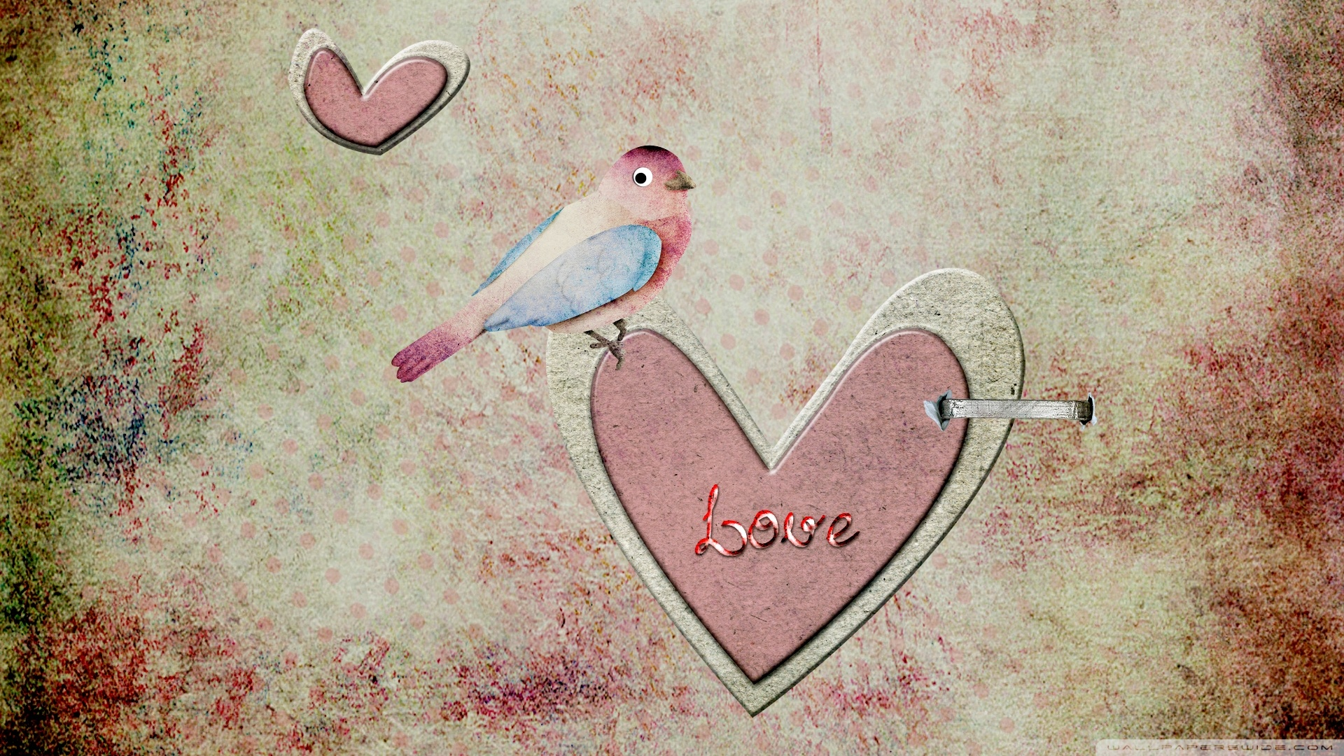 Wallpaper I Love You Vintage : Vintage love art wallpaper 1920x1080 #28245