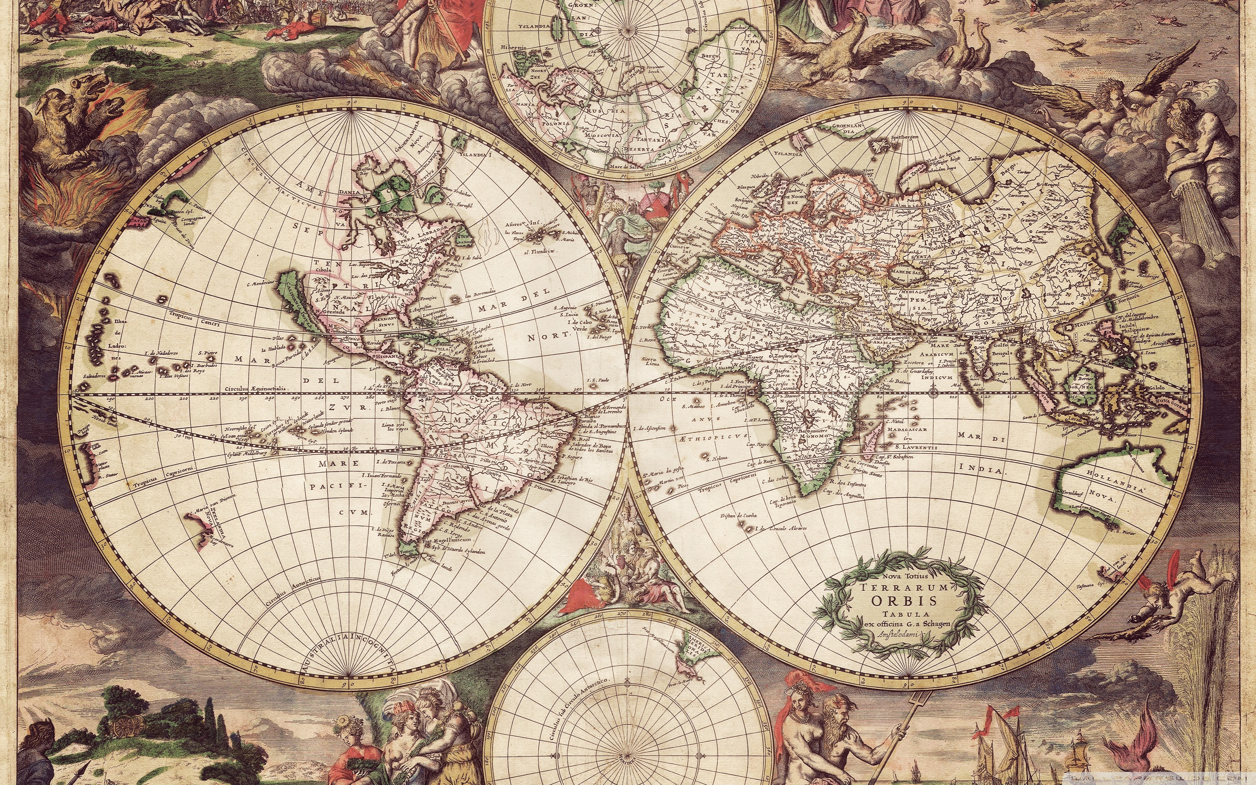 Vintage Maps Wallpaper