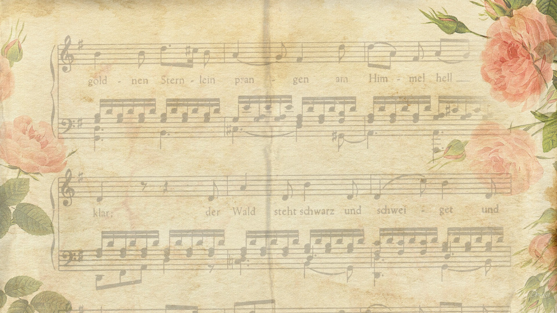 Vintage Music Wallpaper