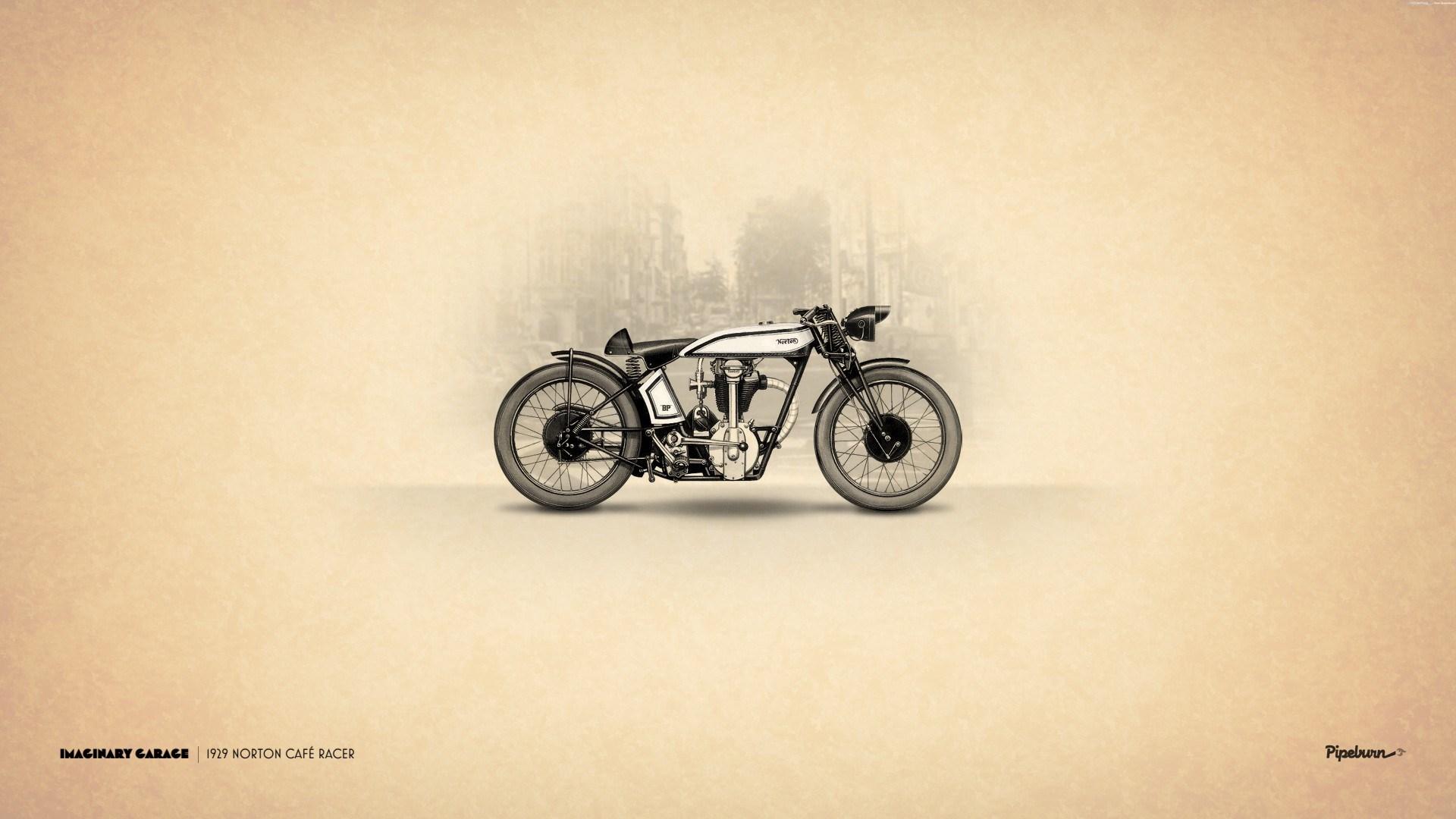 Vintage Retro Motorbike Art