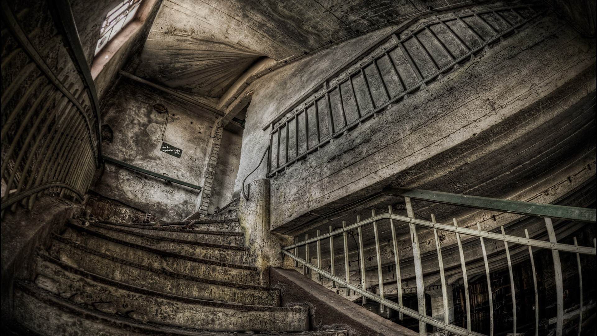 Vintage Stairs Wallpaper