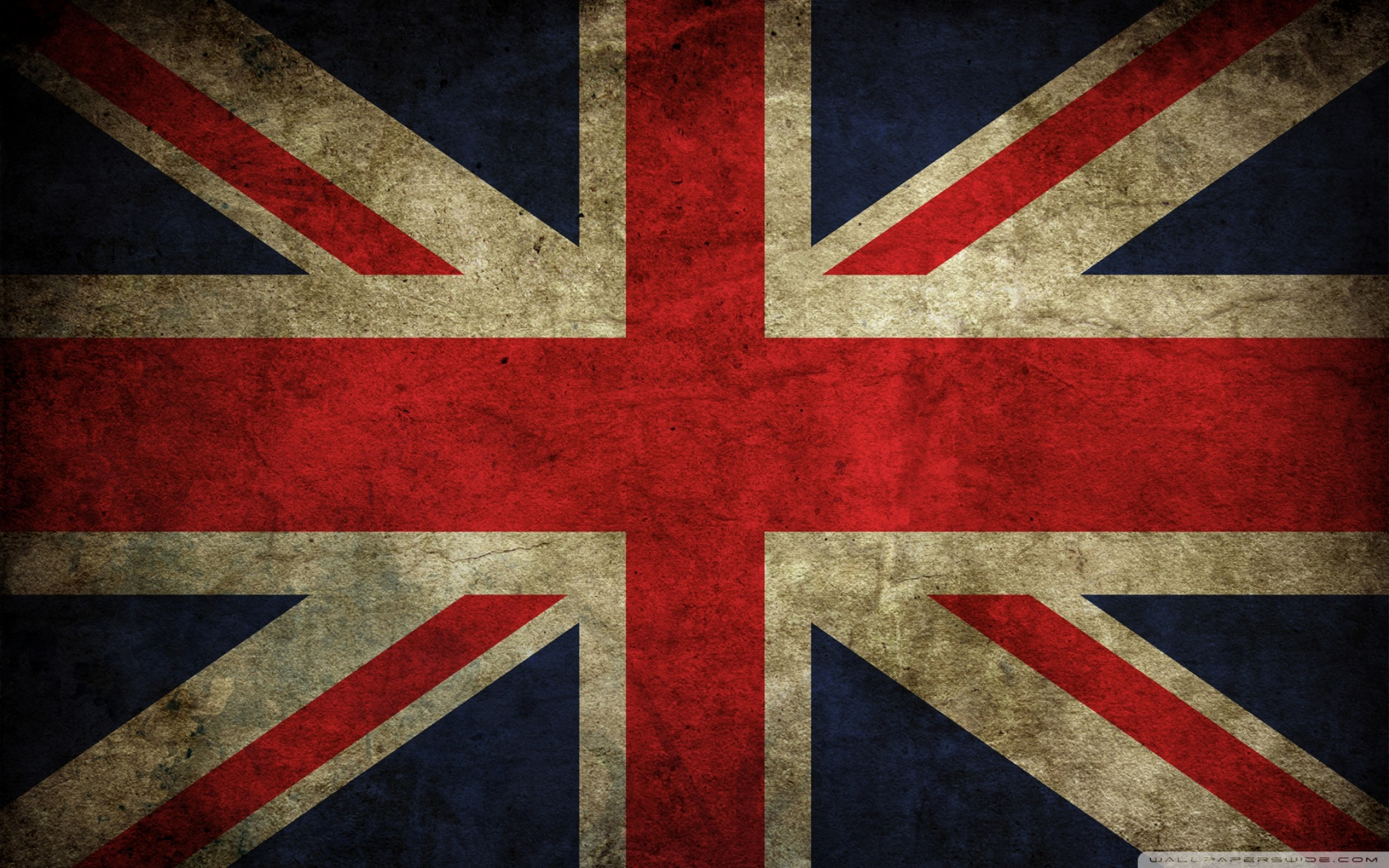 Vintage UK Flag Wallpaper