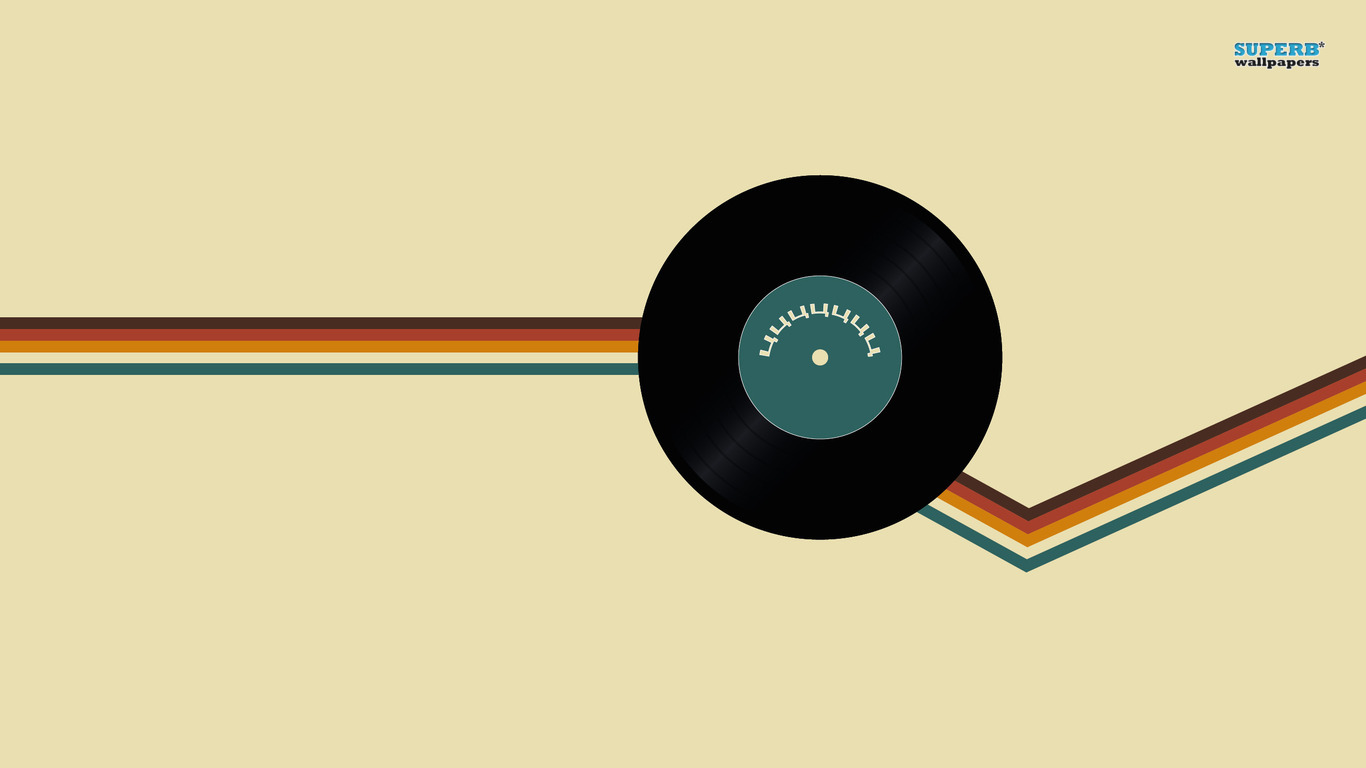 Vinyl record wallpaper 1366x768