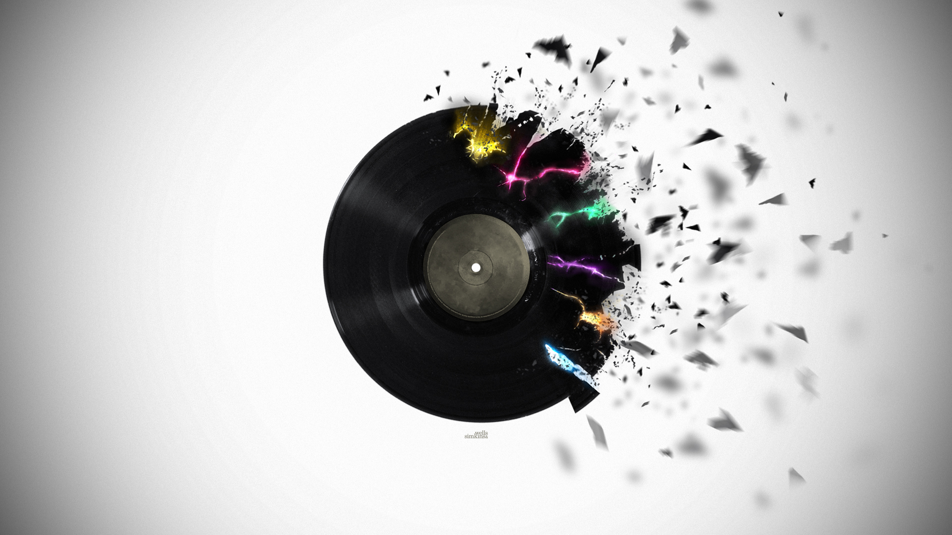 ... Shattered Vinyl HD Wallpaper by Sam-Wells