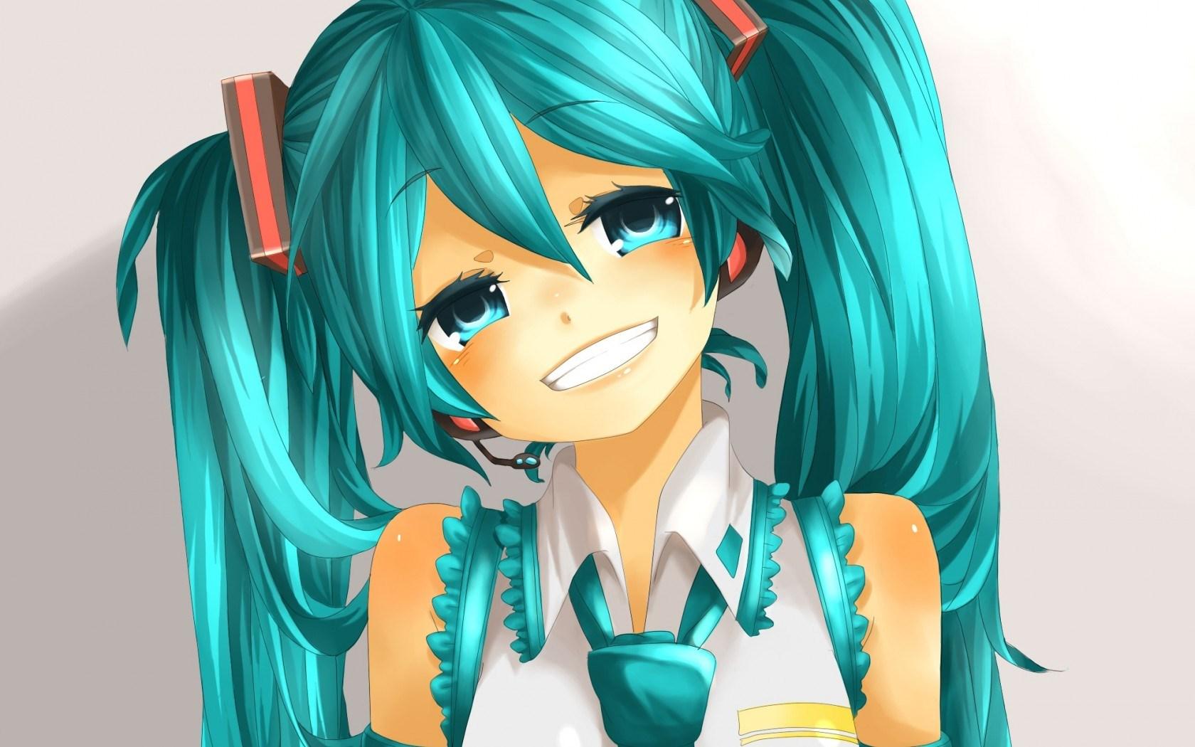 Art Vocaloid Hatsune Miku Girl Smile Anime