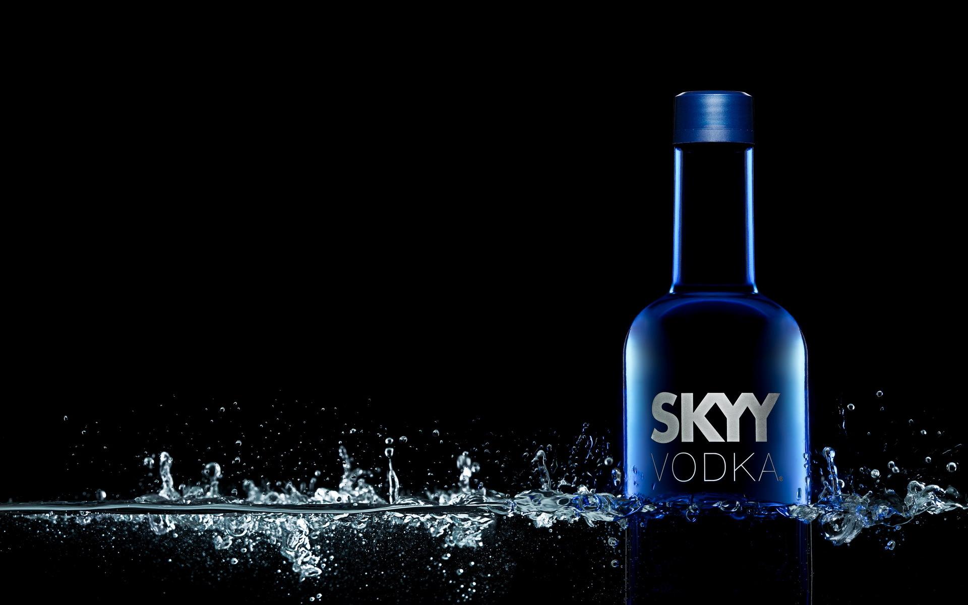 Drinks Vodka Drops Bottle Skyy Vodka FoodDrops