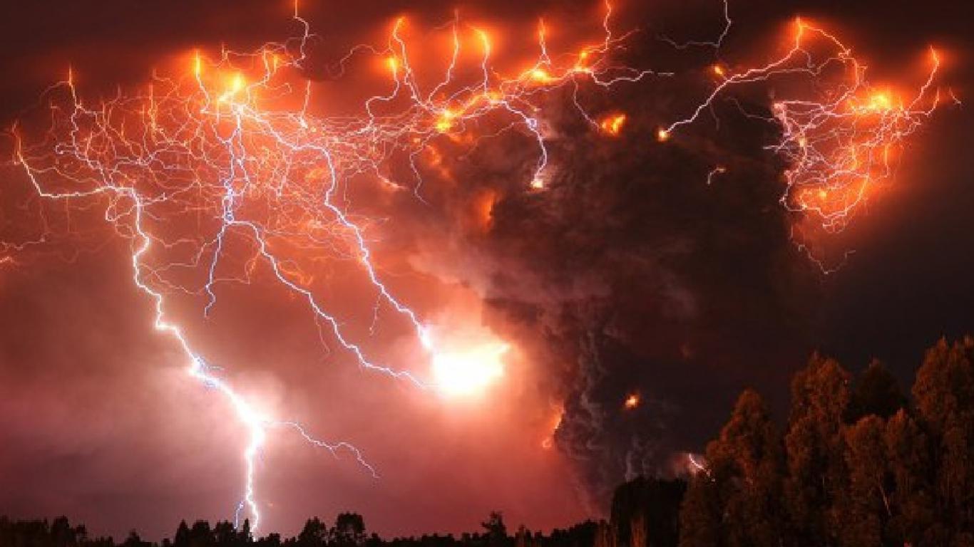 Volcanoes erupt.