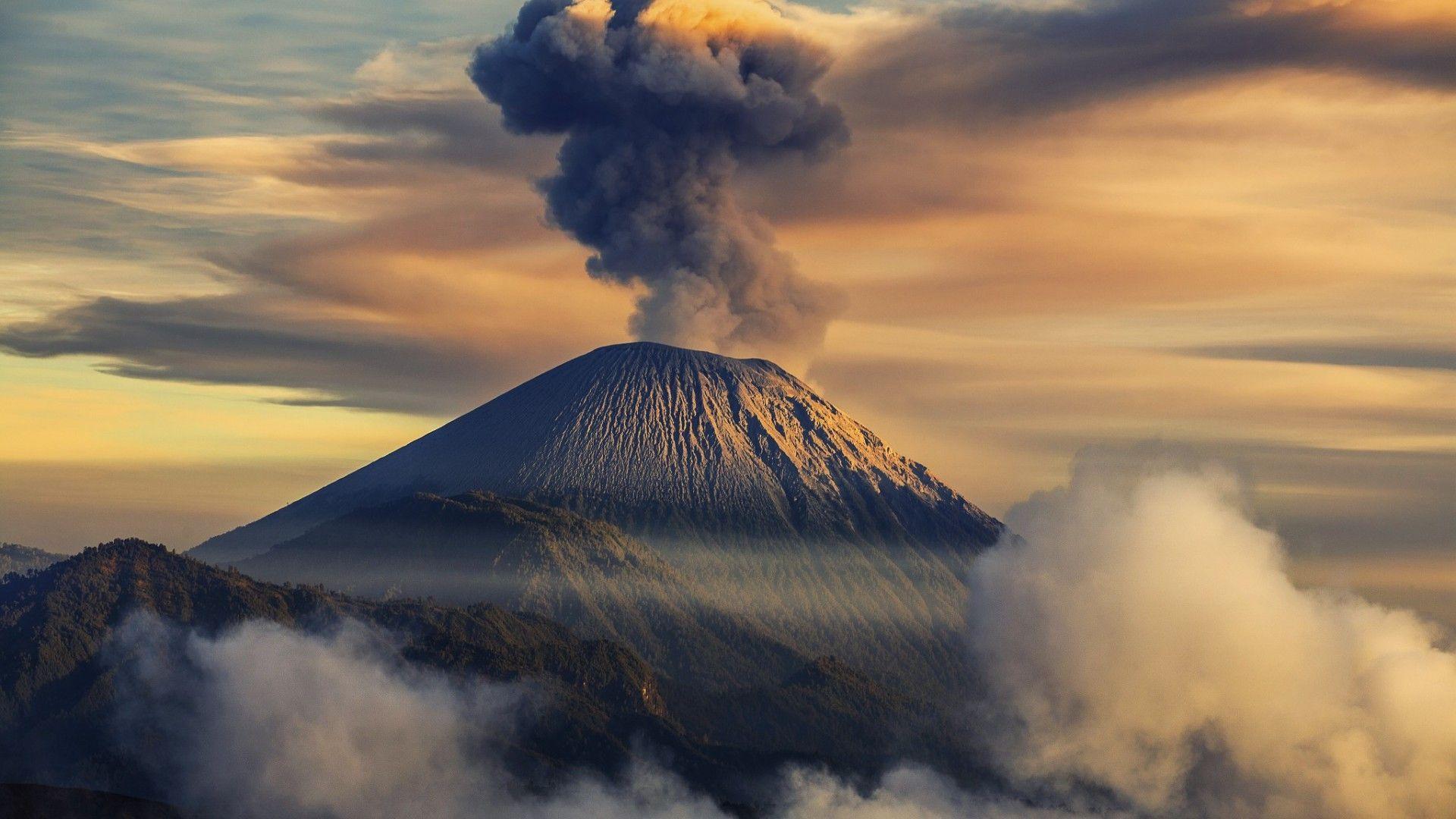 Volcano Smoke Wallpaper