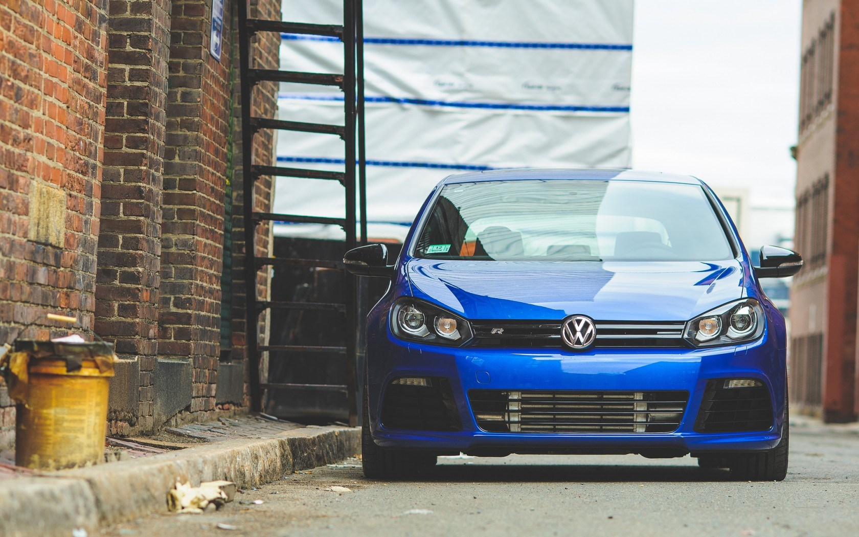 VW Volkswagen Golf Blue Car