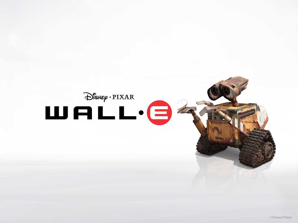 """WALL-E"" Pixar cartoon movie desktop wallpaper number 1 (1024 x 768"