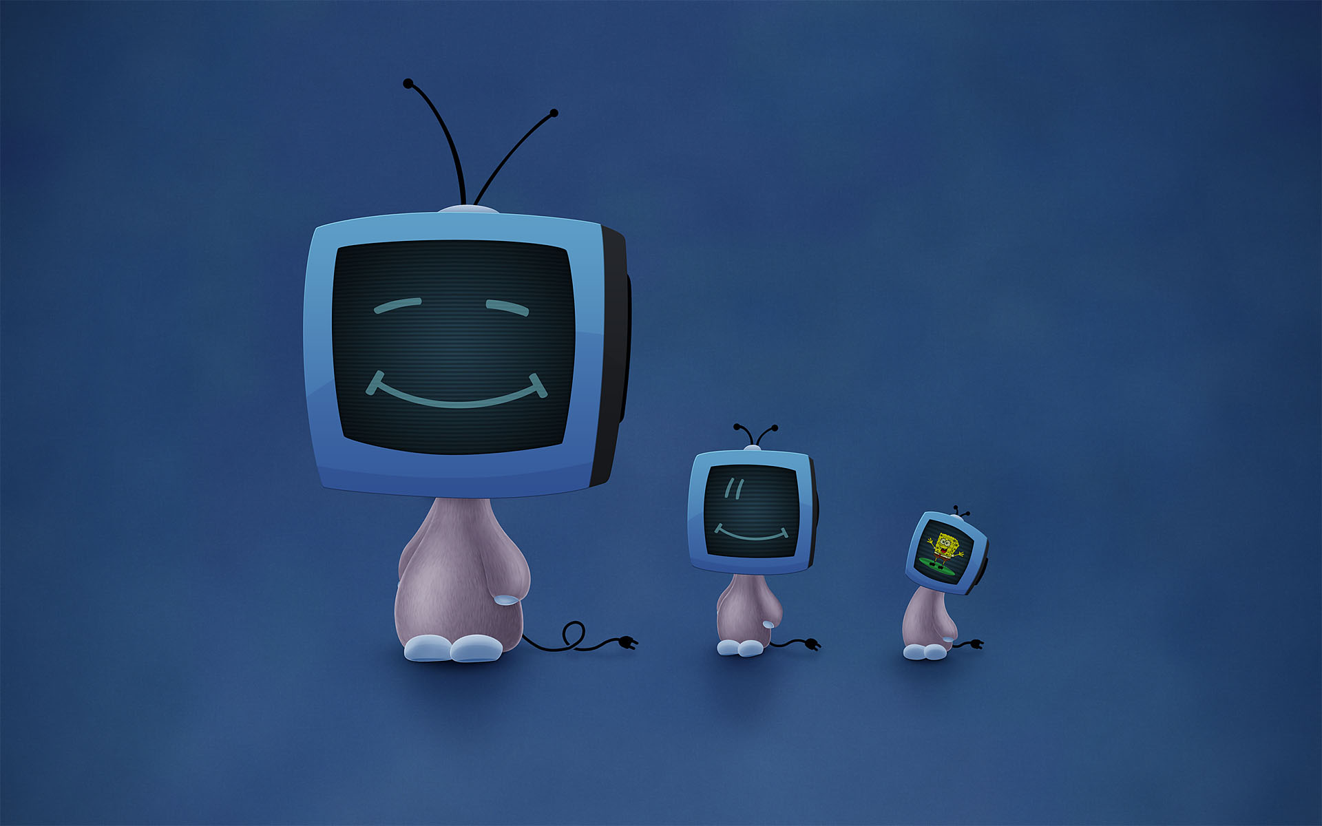 original wallpaper download: Blue TV - 1920x1200