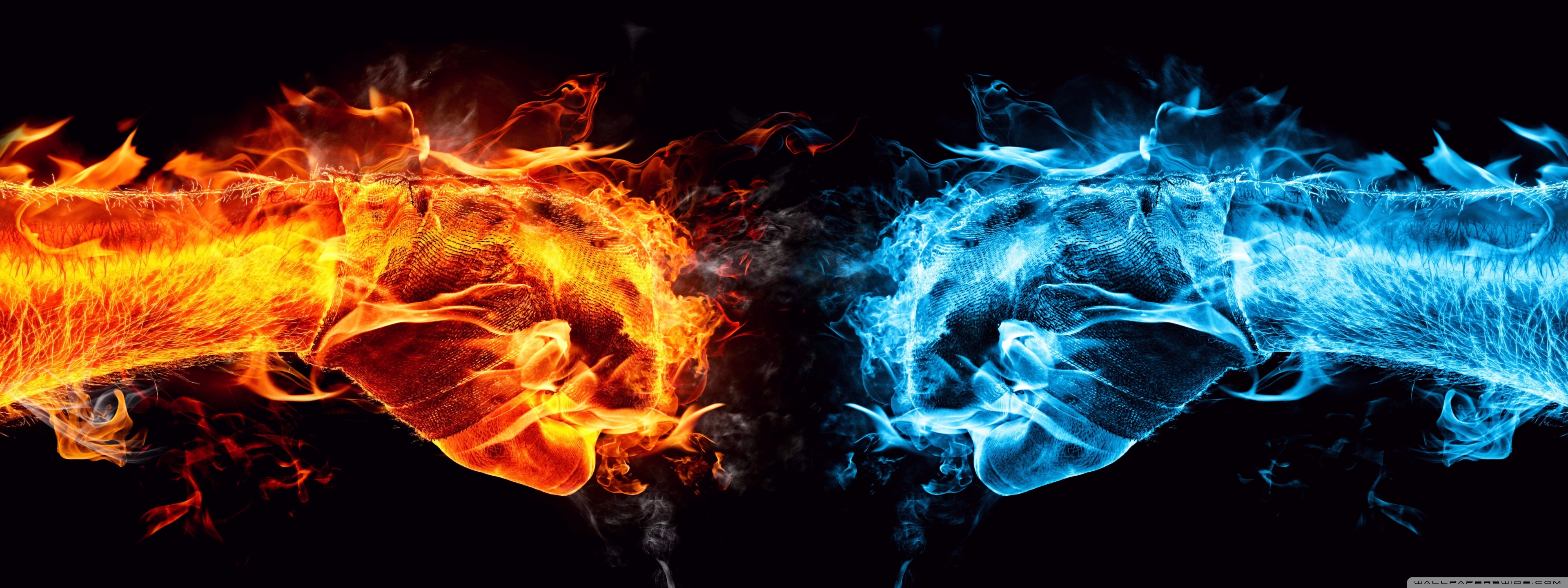 Wallpaper Water and Fire
