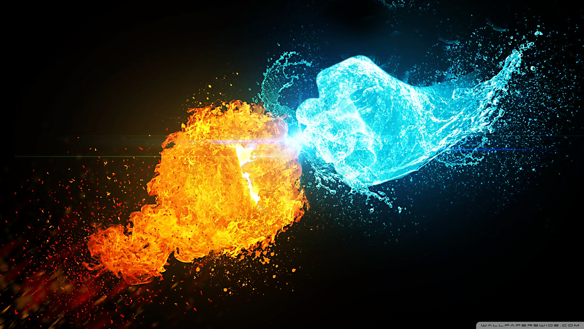 Fire vs Ice HD Wide Wallpaper for Widescreen